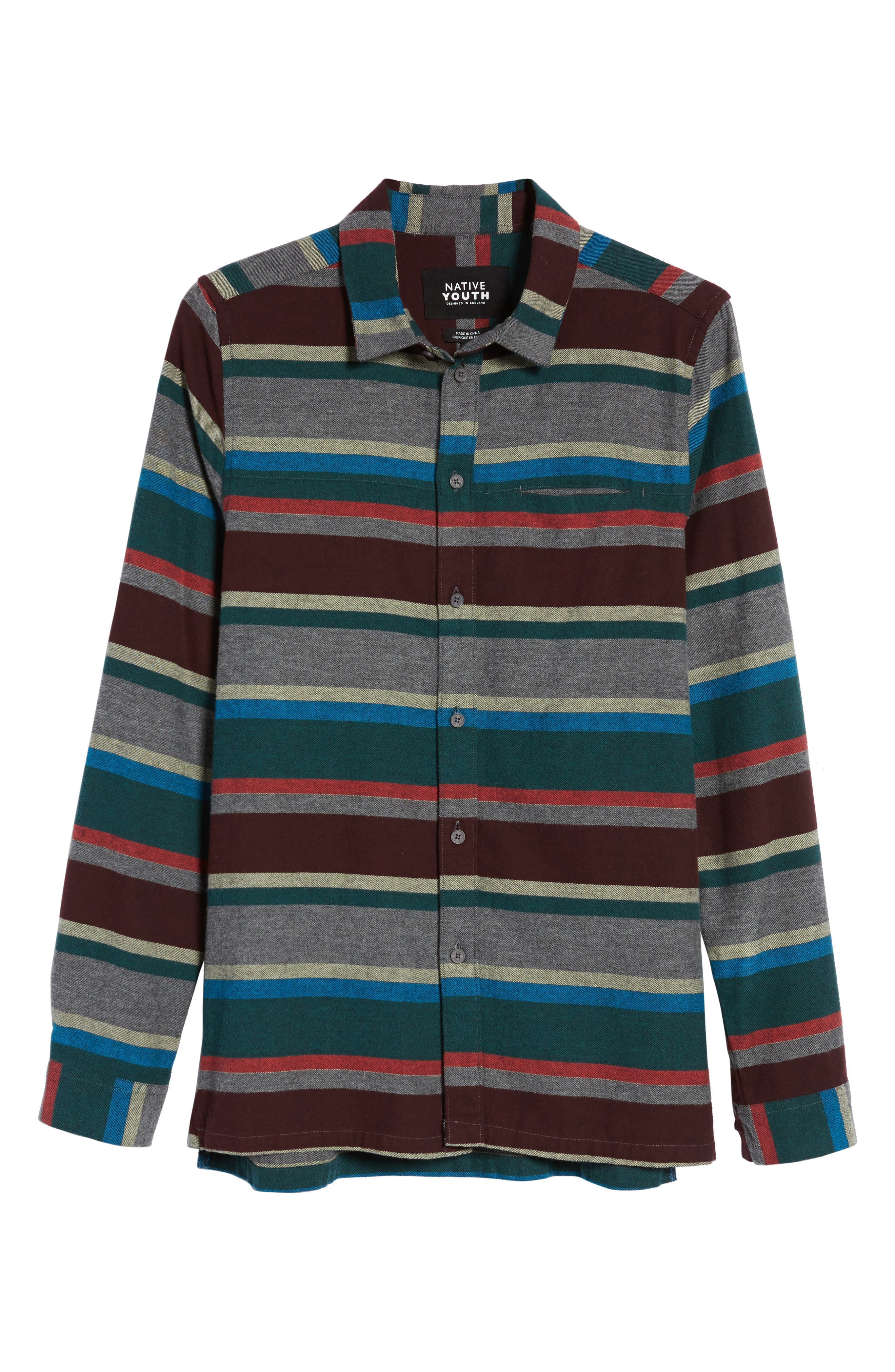 Alternate Image 6  - Native Youth Arcot Woven Shirt