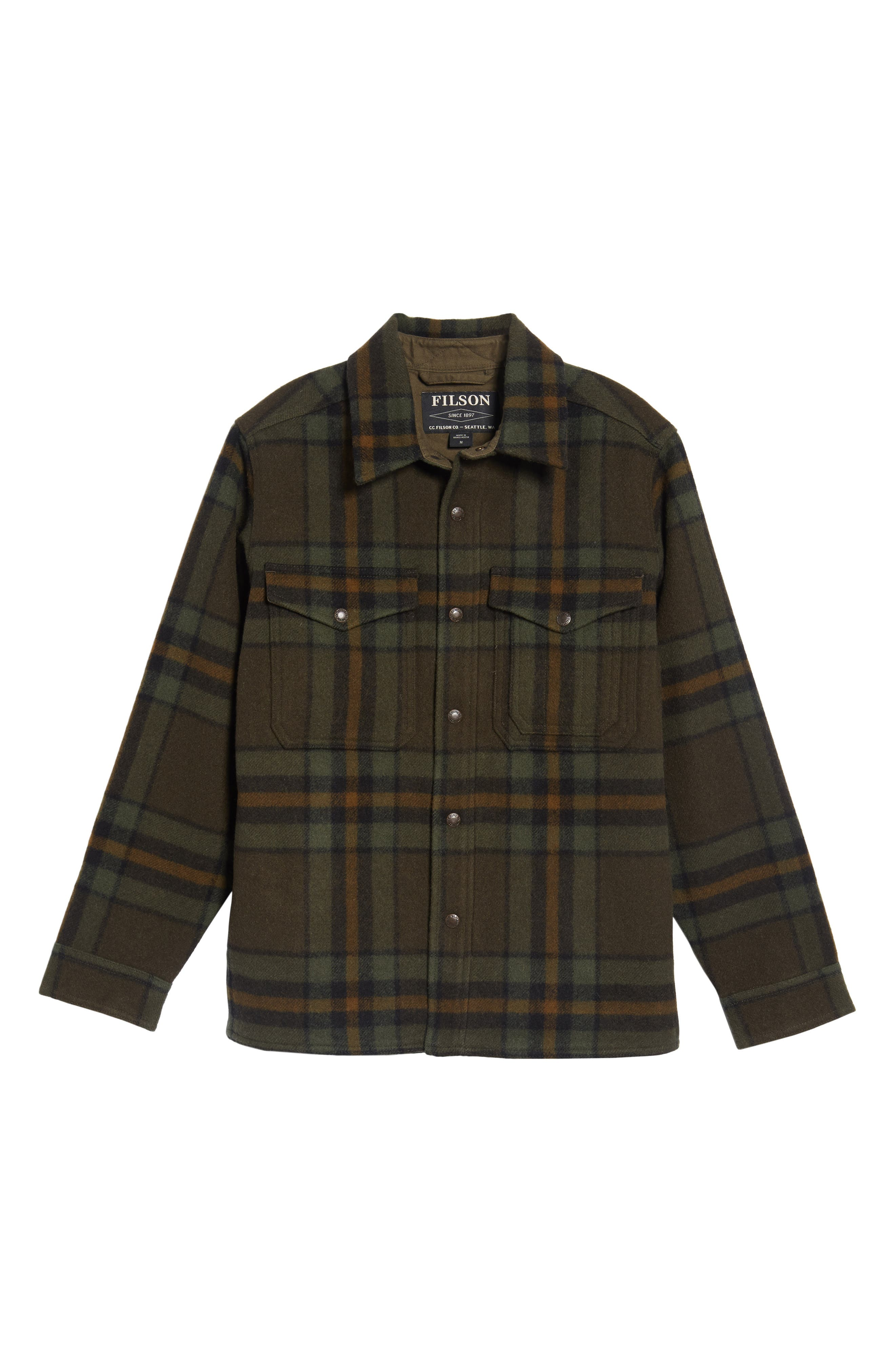 Alternate Image 6  - Filson 'Macinaw' Plaid Wool Flannel Shirt Jacket