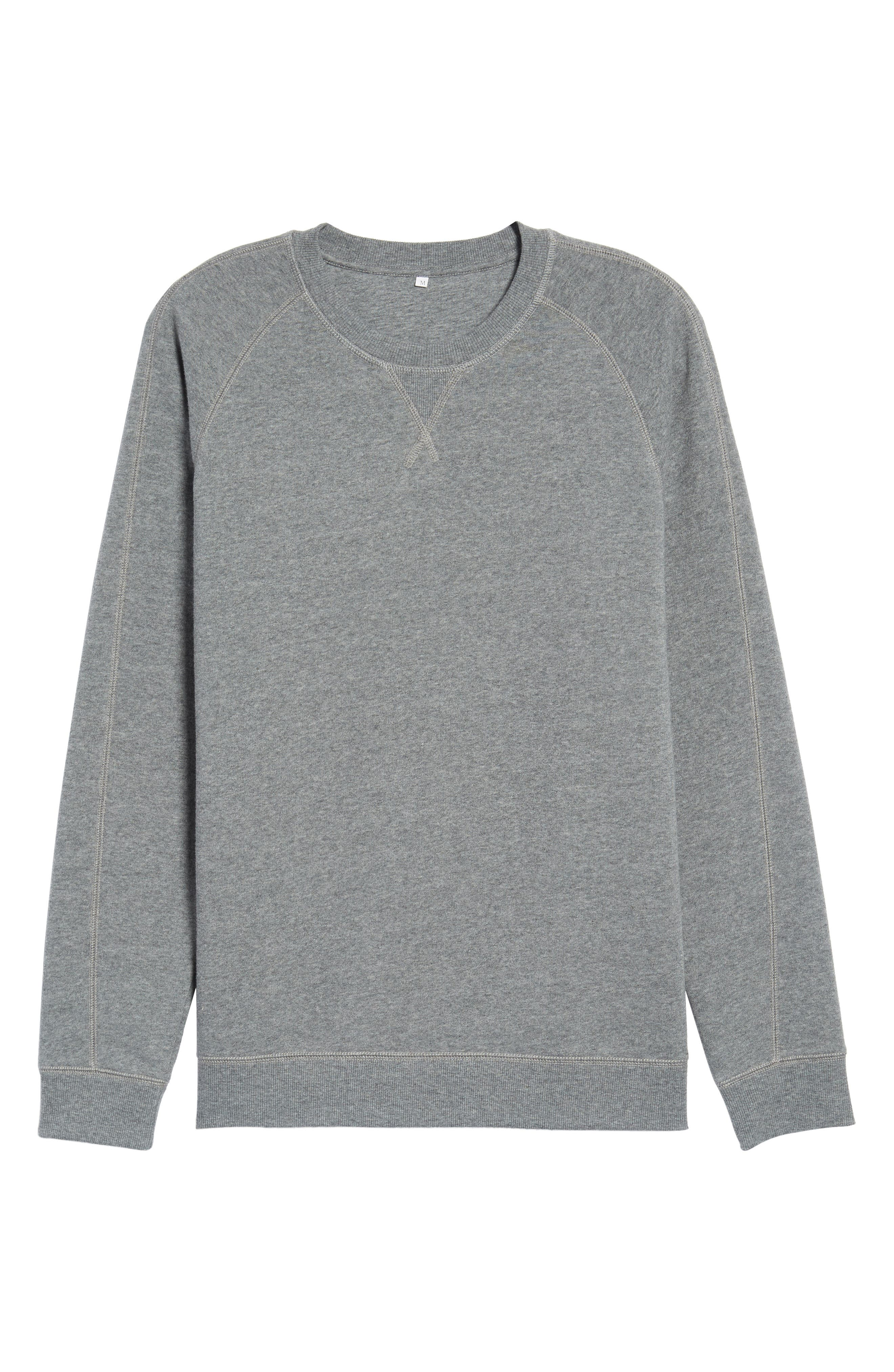 Fleece Sweatshirt,                             Alternate thumbnail 6, color,                             Grey Paloma Heather