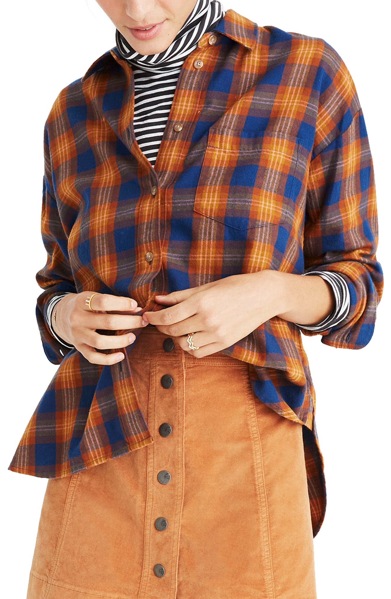 Westward Ardan Plaid Shirt,                         Main,                         color, Dark River
