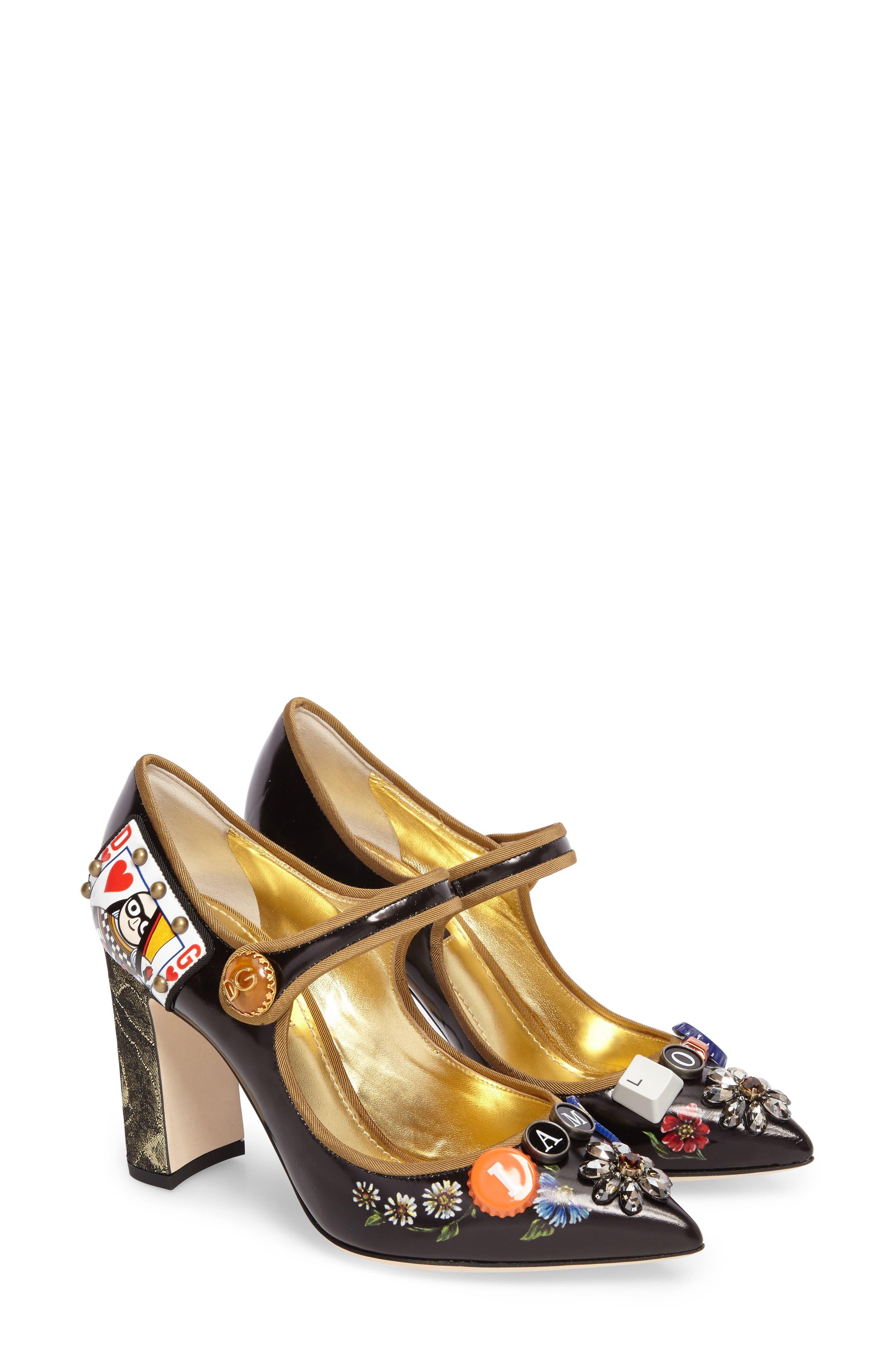 Alternate Image 2  - Dolce&Gabbana Embellished Mary Jane Pump (Women)