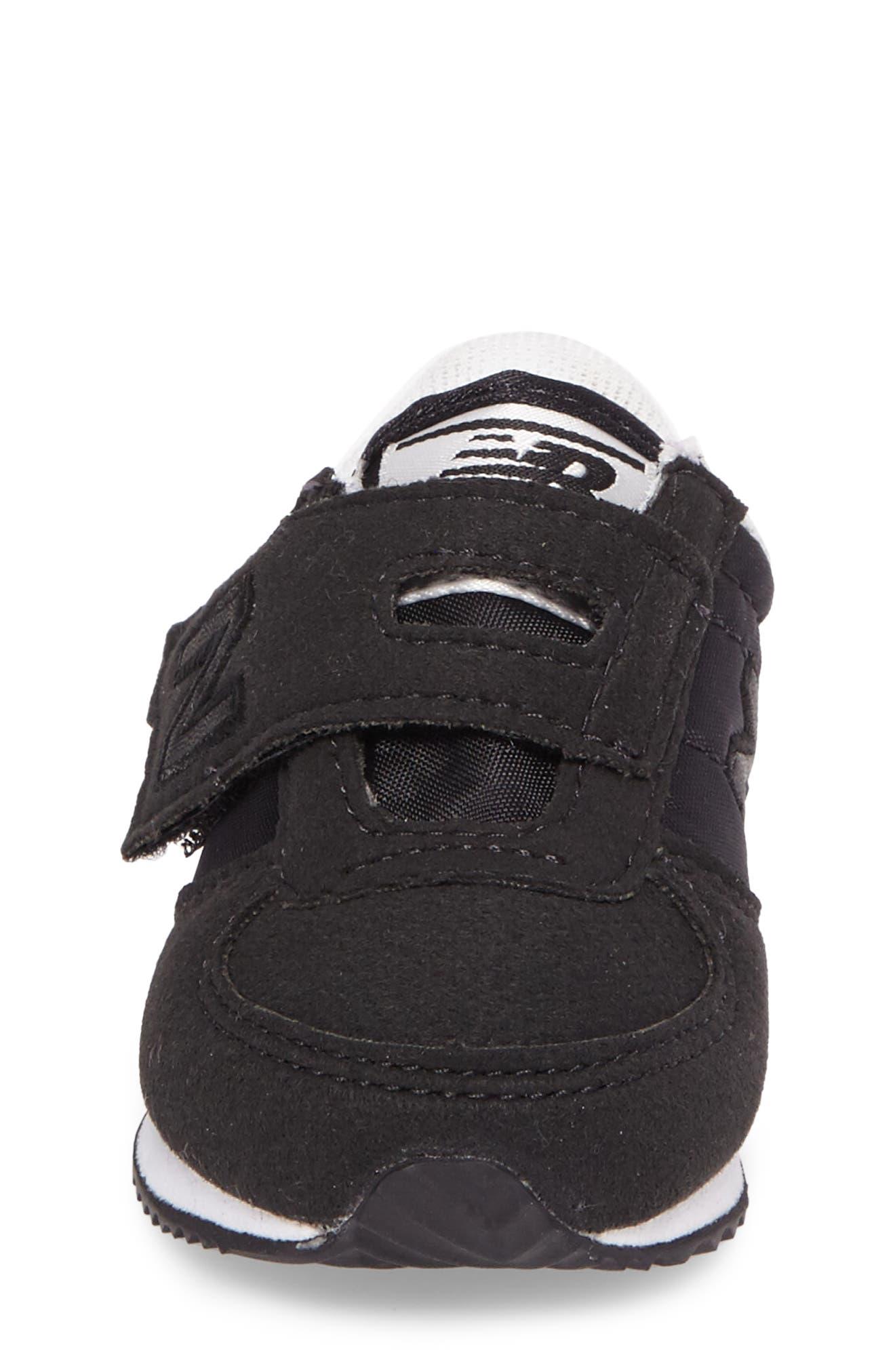 220 Hook and Loop Sneaker,                             Alternate thumbnail 4, color,                             Black