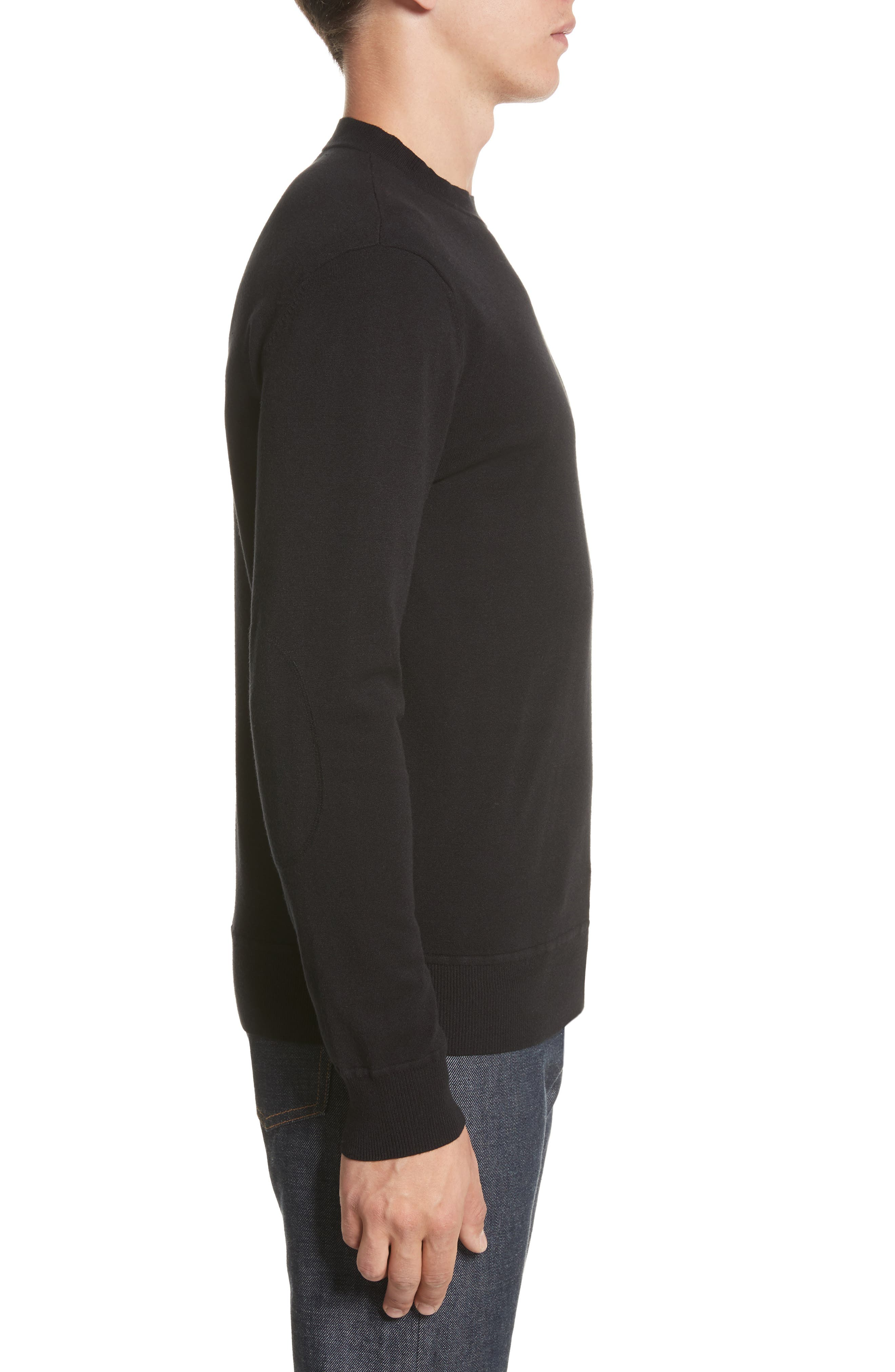 Ronnie Crewneck Sweatshirt,                             Alternate thumbnail 3, color,                             Black