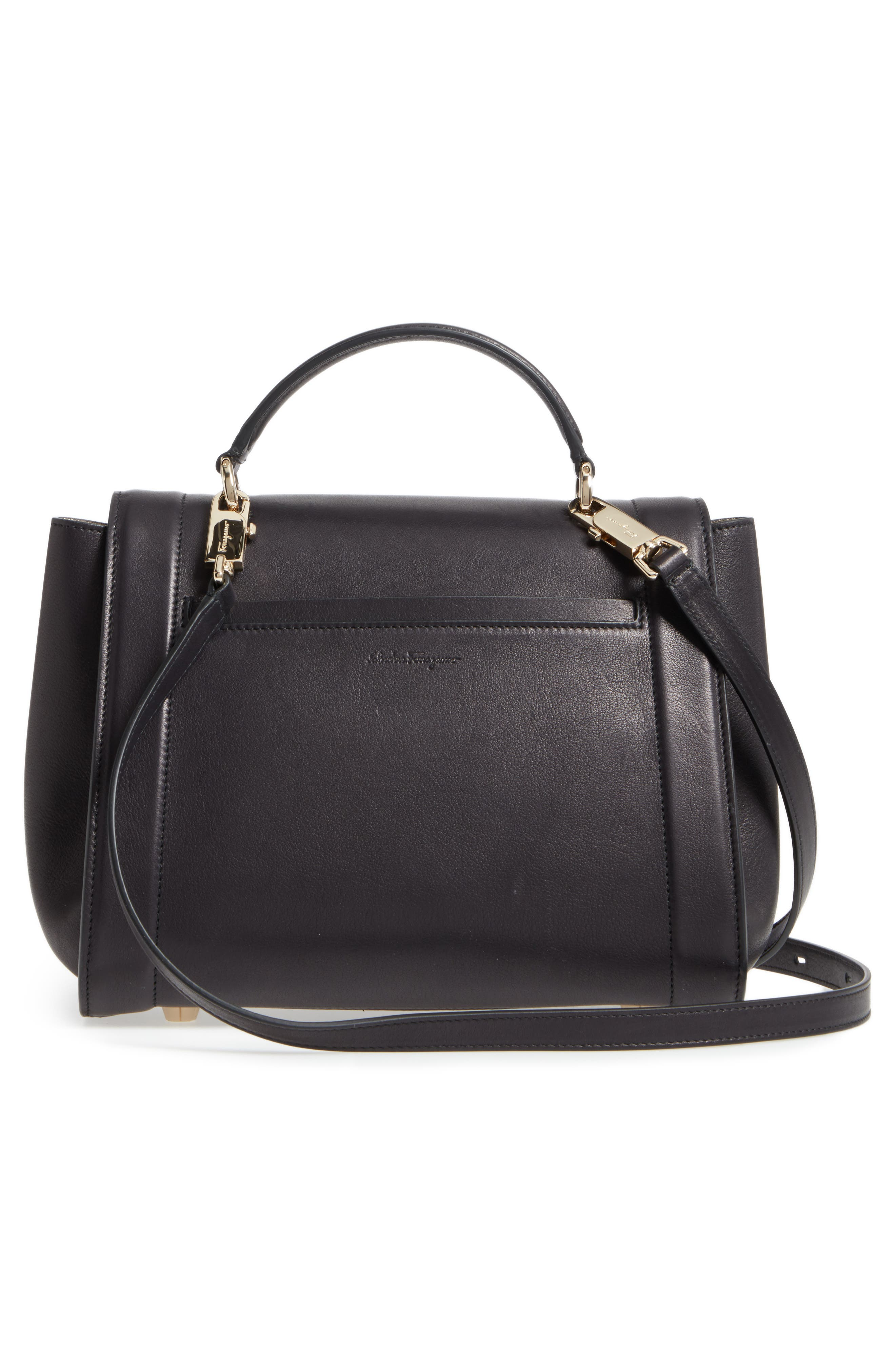 Small Sophia Leather Satchel,                             Alternate thumbnail 2, color,                             Nero/ Agento/ New Bianco