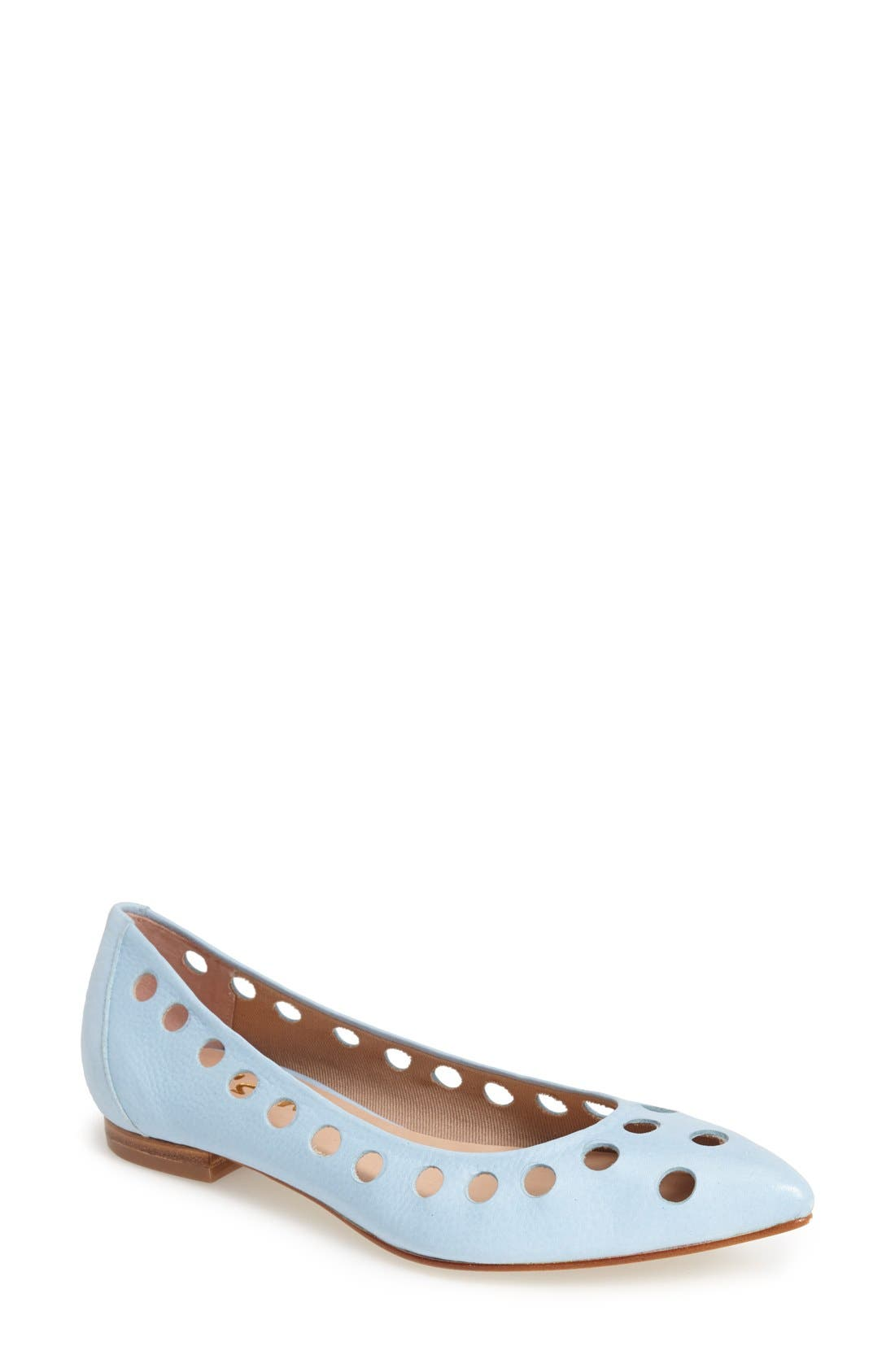 Alternate Image 1 Selected - French Sole 'Naught' Laser Cut Ballet Flats (Women)