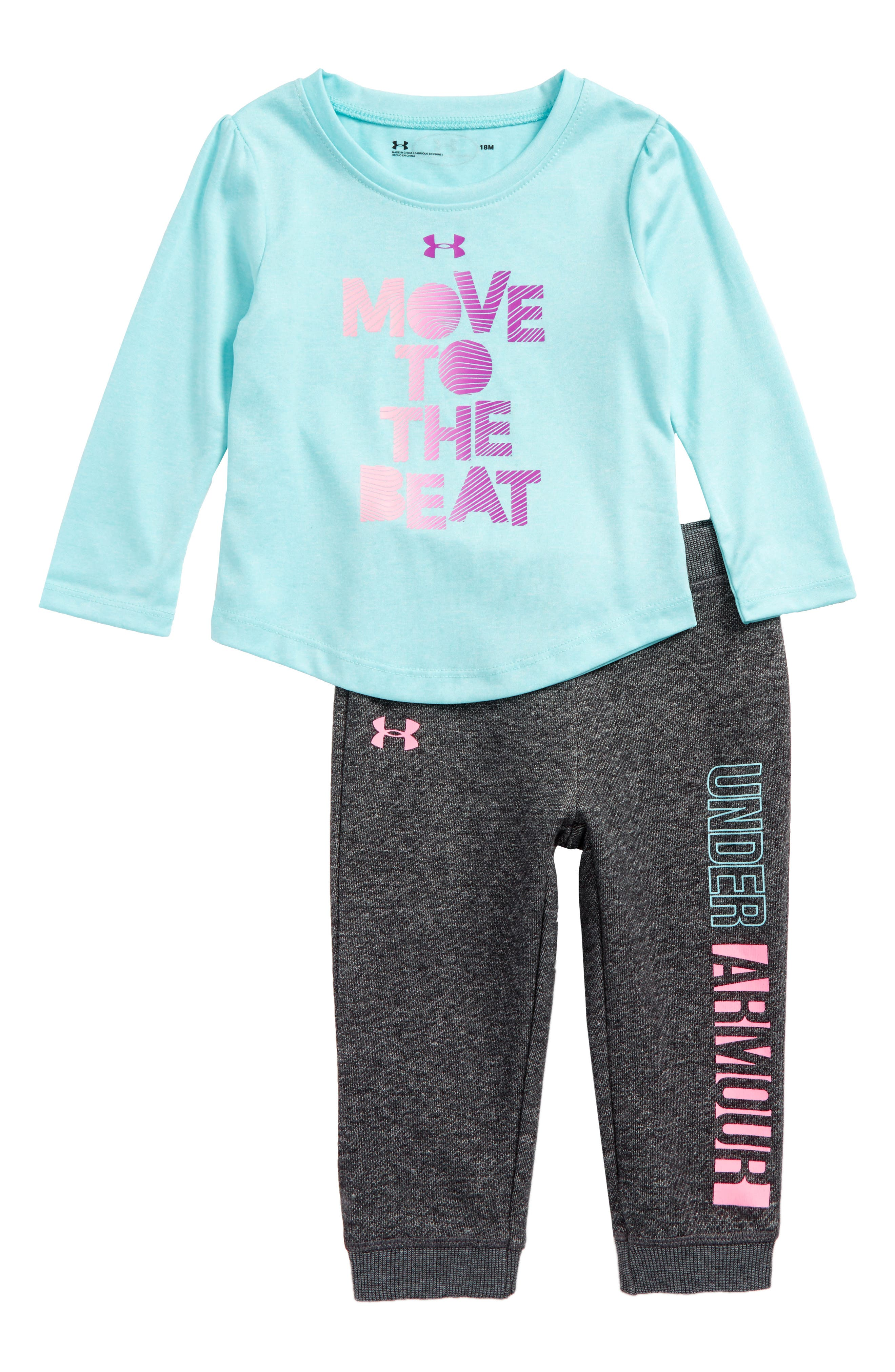 Under Armour Move To The Beat Tee & Pants Set (Baby Girls)