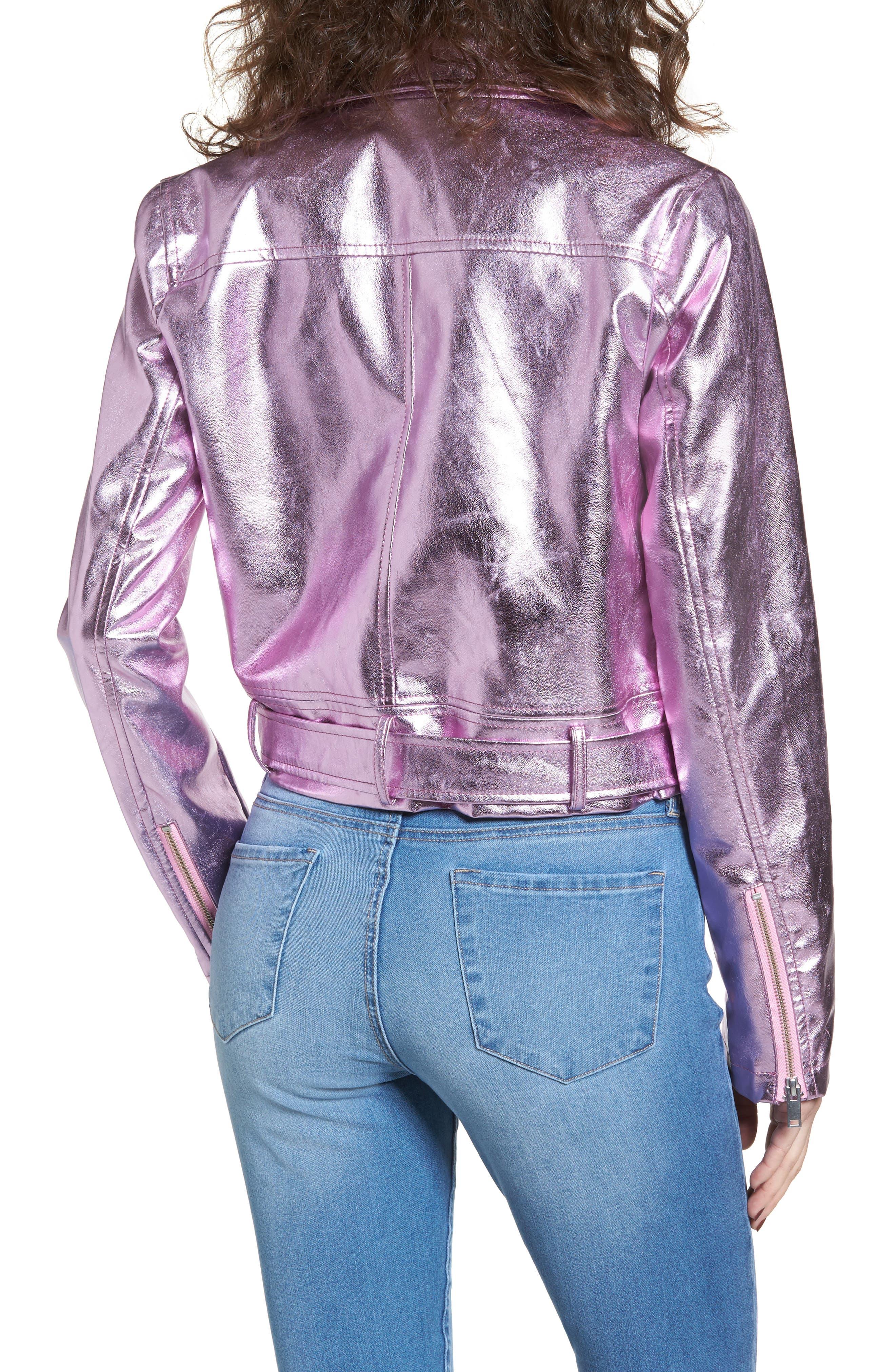 Grant Metallic Jacket,                             Alternate thumbnail 2, color,                             Candy