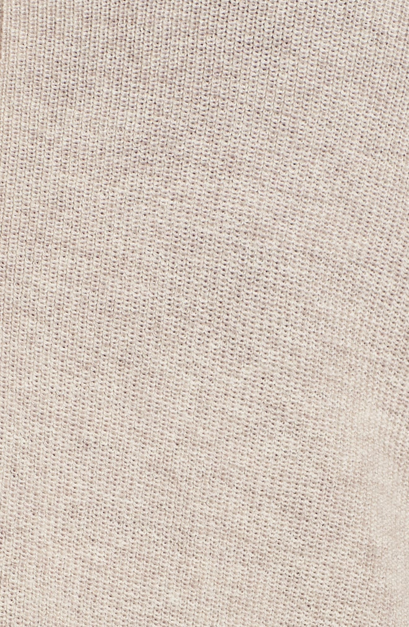 V-Neck Merino Wool Cardigan,                             Alternate thumbnail 5, color,                             Brown