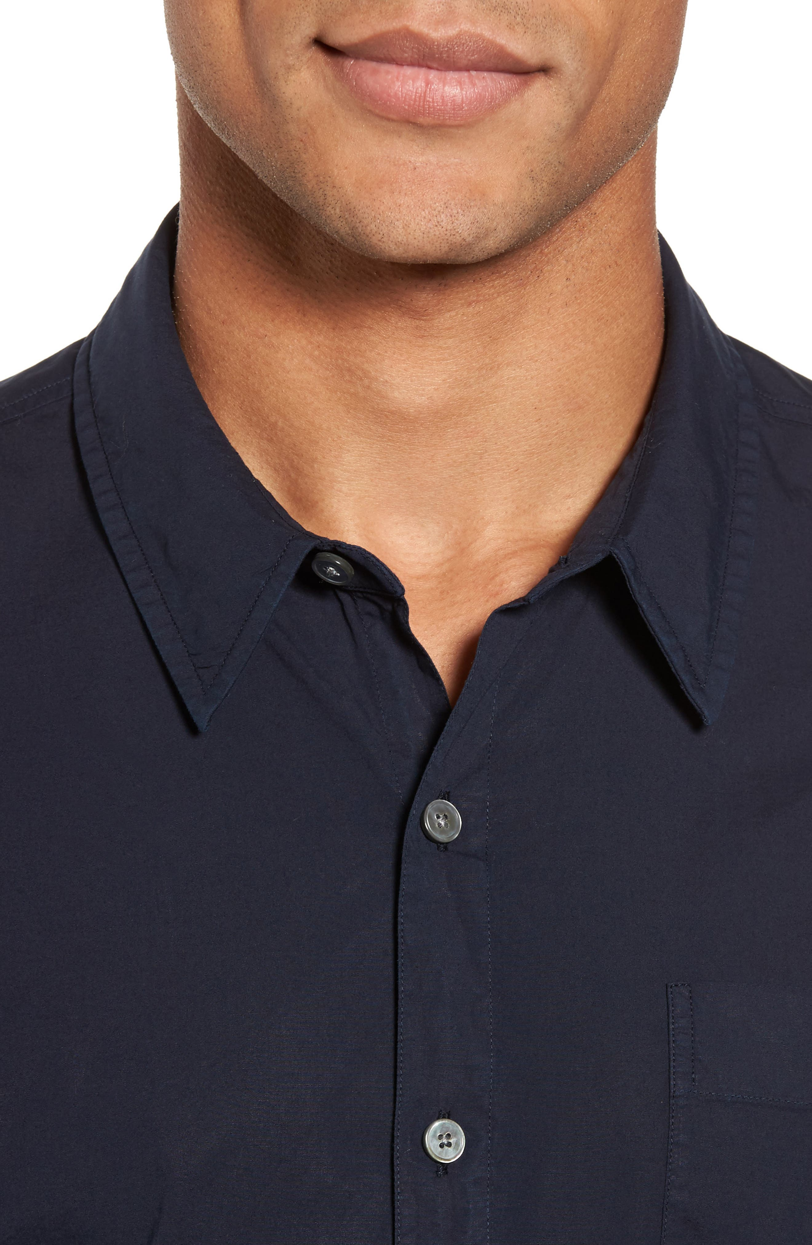 Relaxed Fit Sport Shirt,                             Alternate thumbnail 4, color,                             Blue Ink