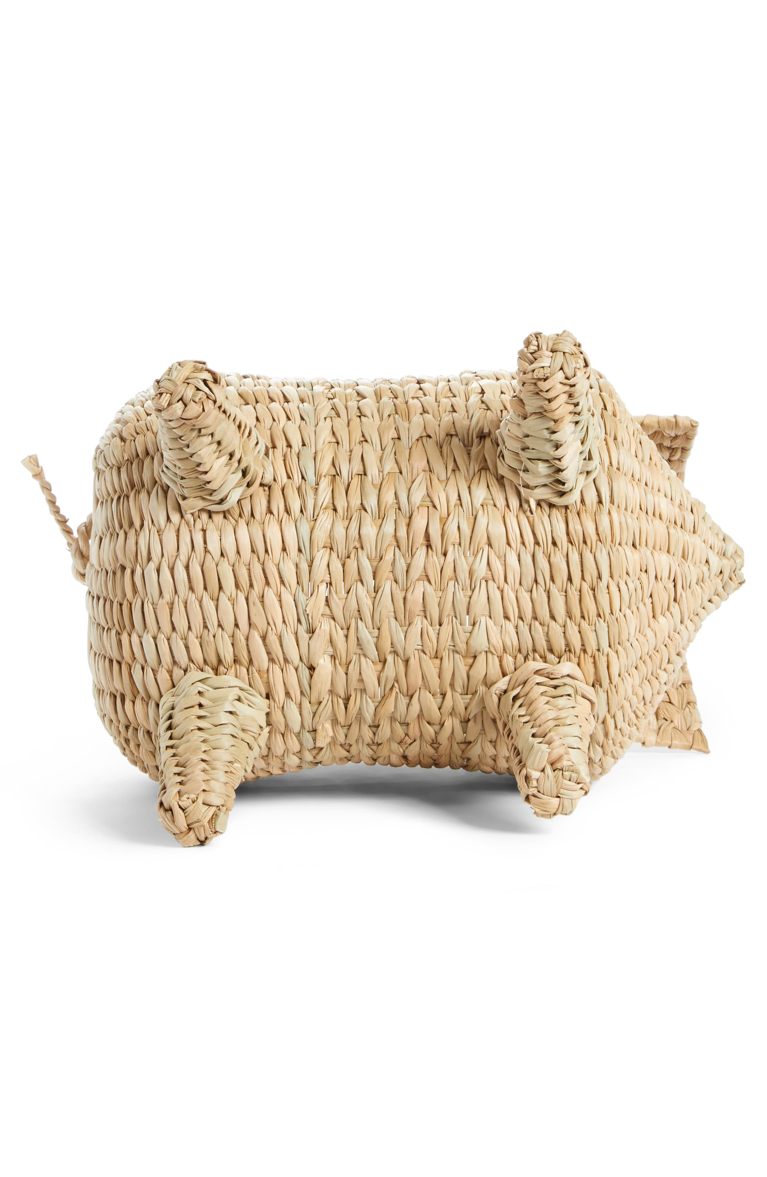 The Babe Straw Bag,                             Alternate thumbnail 6, color,                             Natural