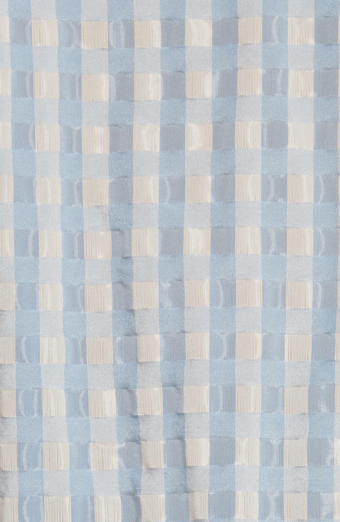 Hermione Gingham Seersucker Dress,                             Alternate thumbnail 6, color,                             Blue