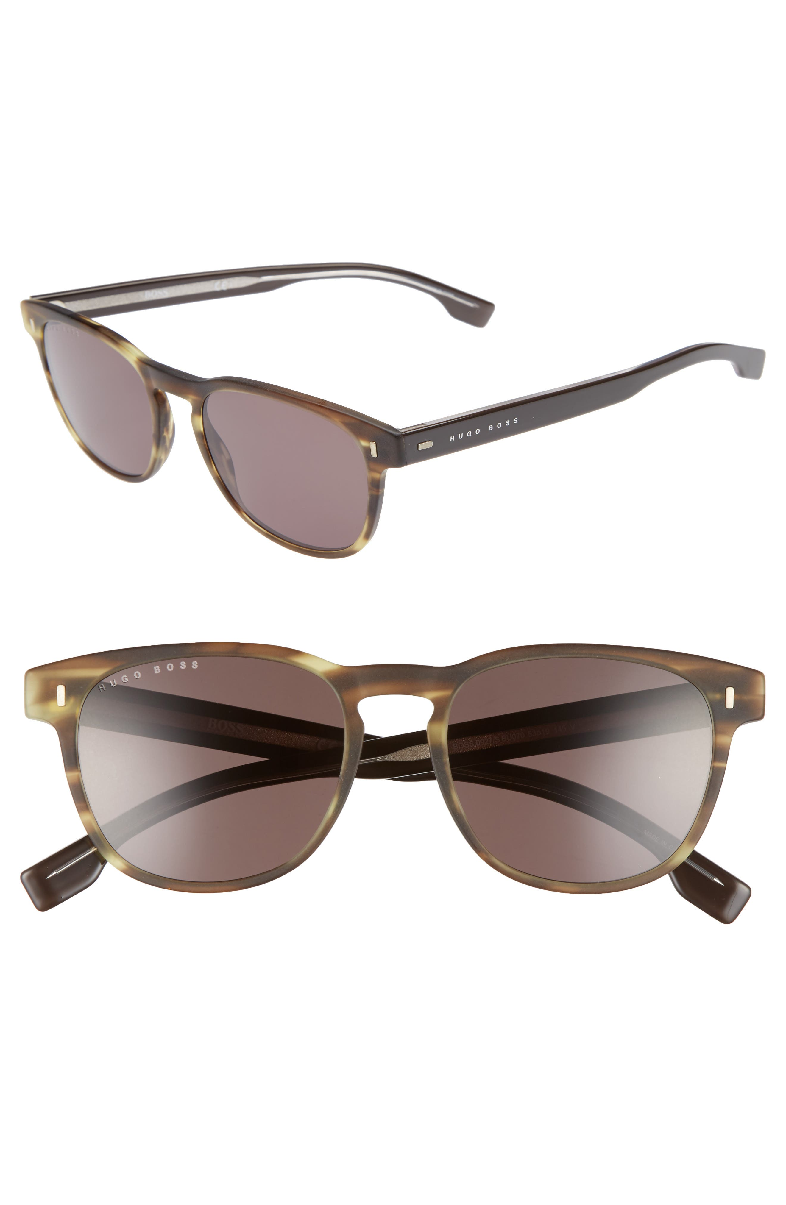 B0926S 49mm Polarized Sunglasses,                             Main thumbnail 1, color,                             Brown/ Brown
