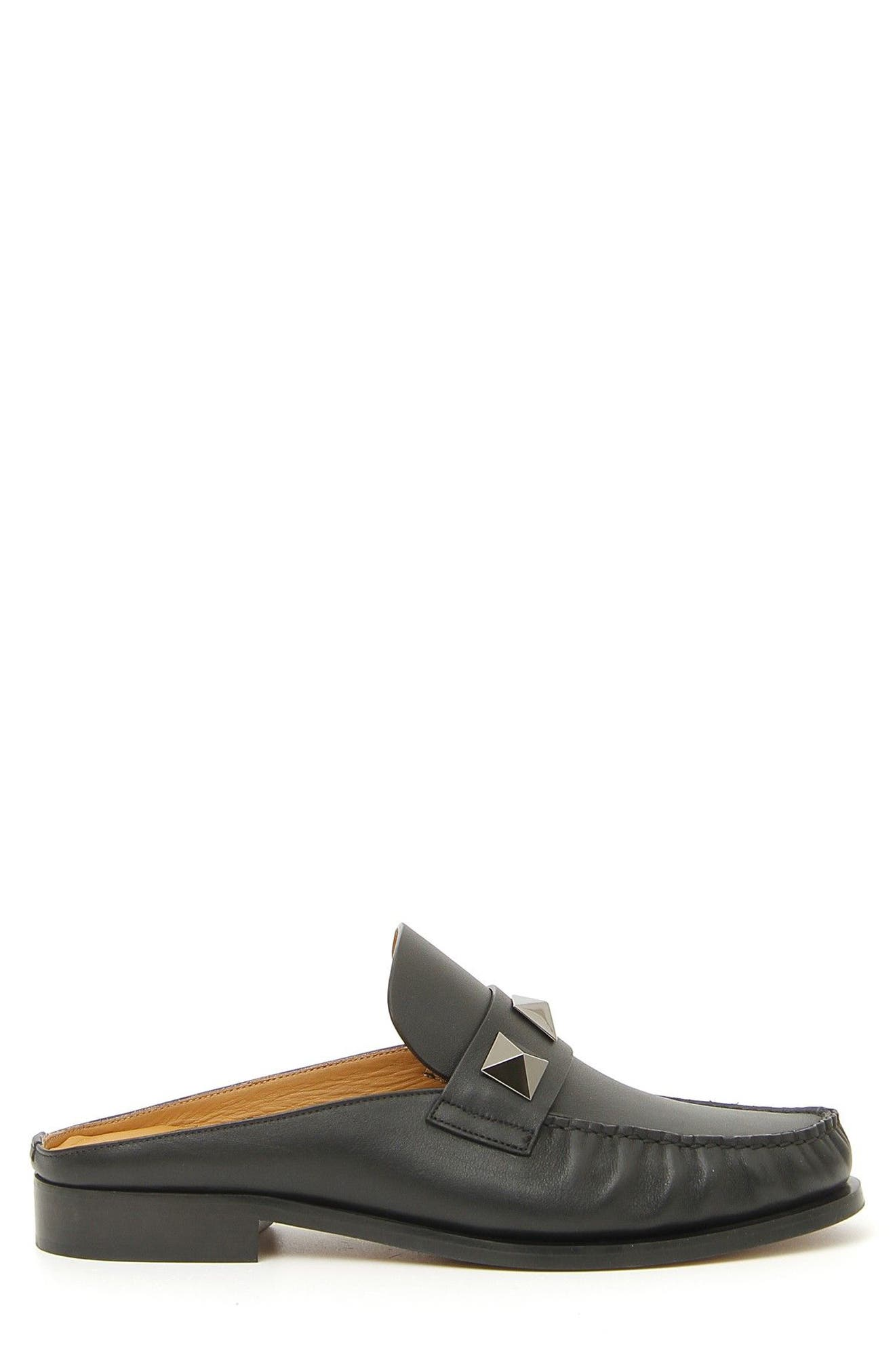 Lock Loafer Mule,                             Alternate thumbnail 4, color,                             Nero