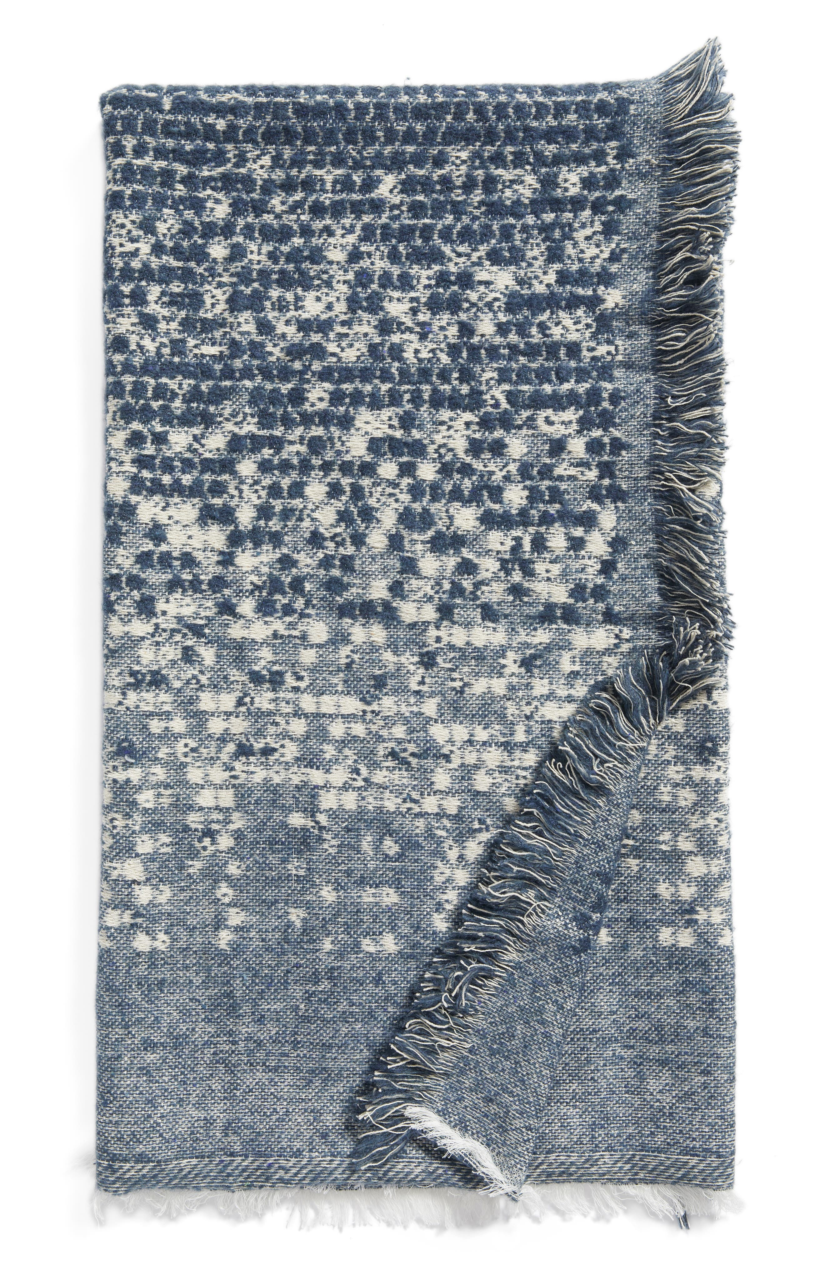 Jacquard Throw,                         Main,                         color, Grey Grisaille