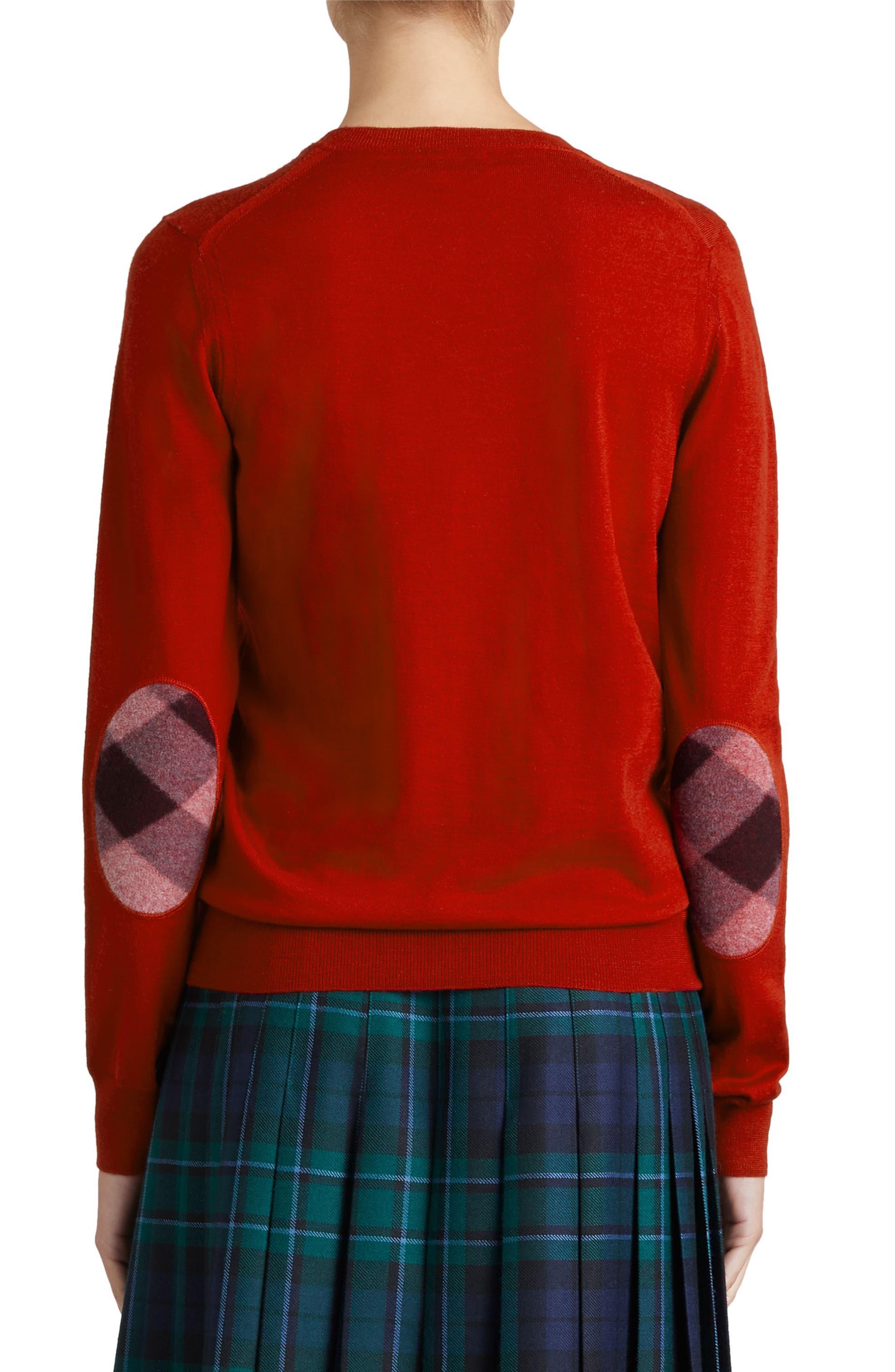Alternate Image 2  - Burberry Viar Merino Wool Sweater