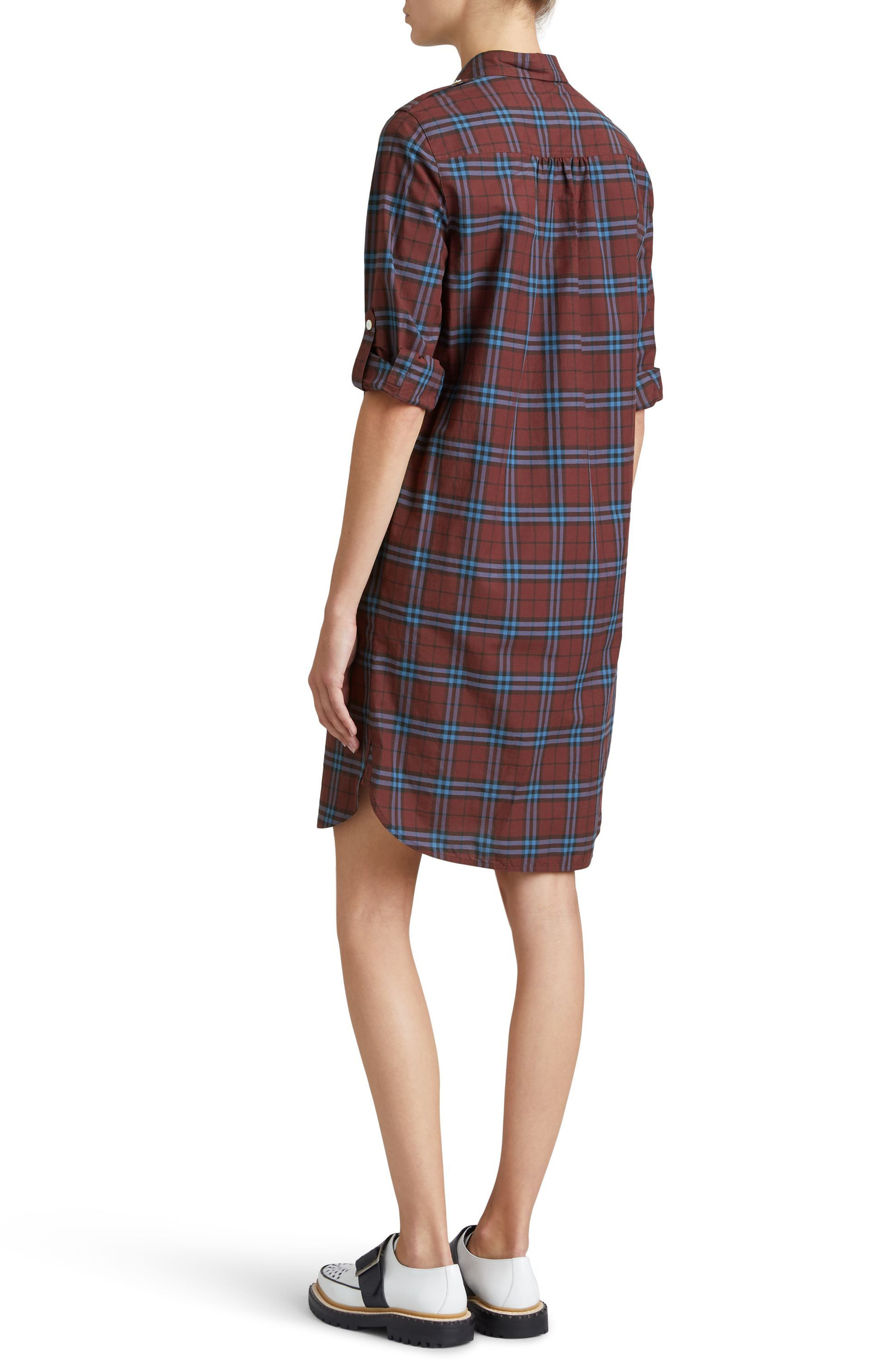 Alternate Image 3  - Burberry Kelsy Cotton Check Shirtdress