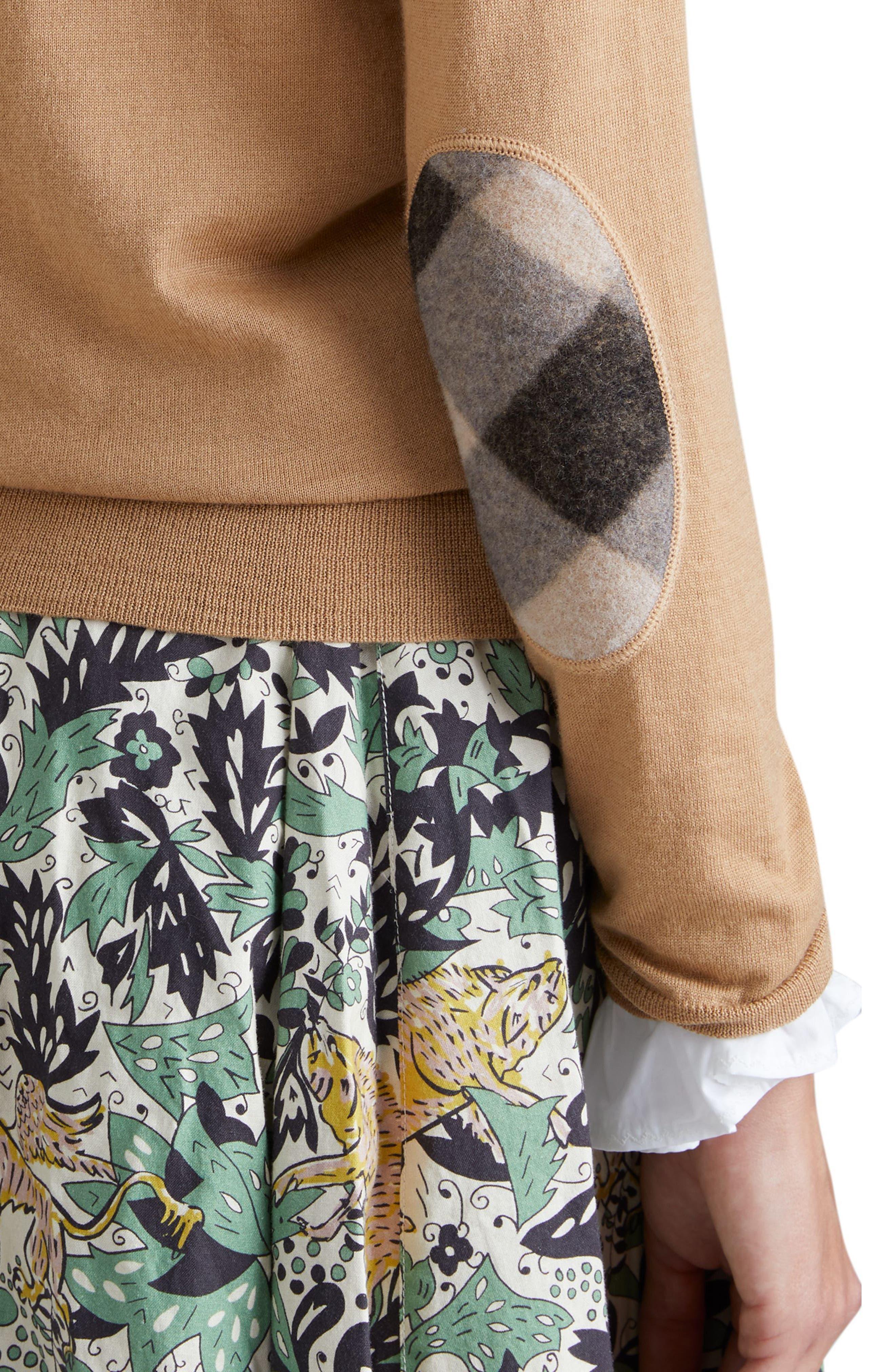 Viar Merino Wool Sweater,                             Alternate thumbnail 4, color,                             Camel