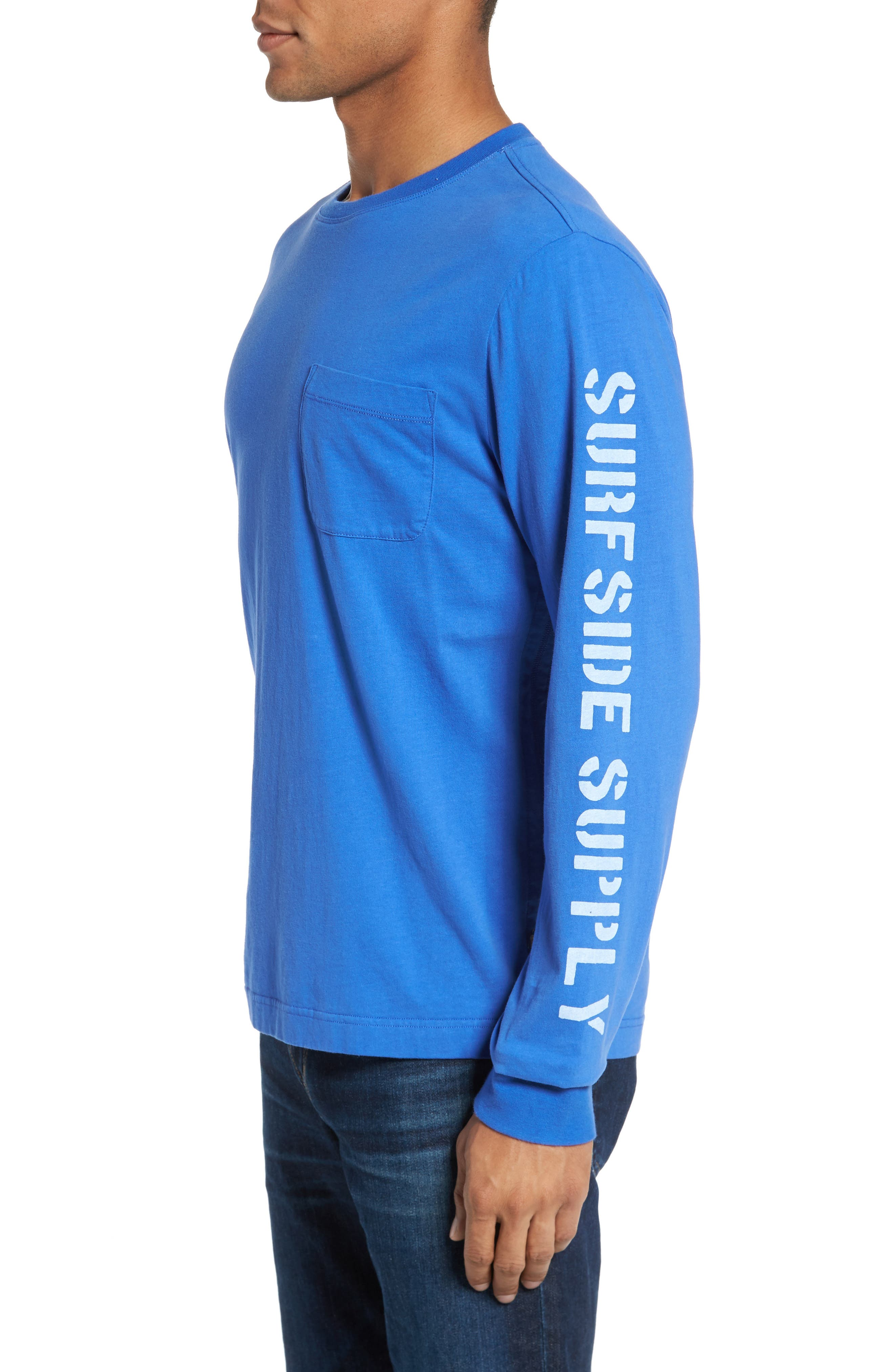 Alternate Image 3  - Surfside Supply Logo Jersey Crewneck T-Shirt