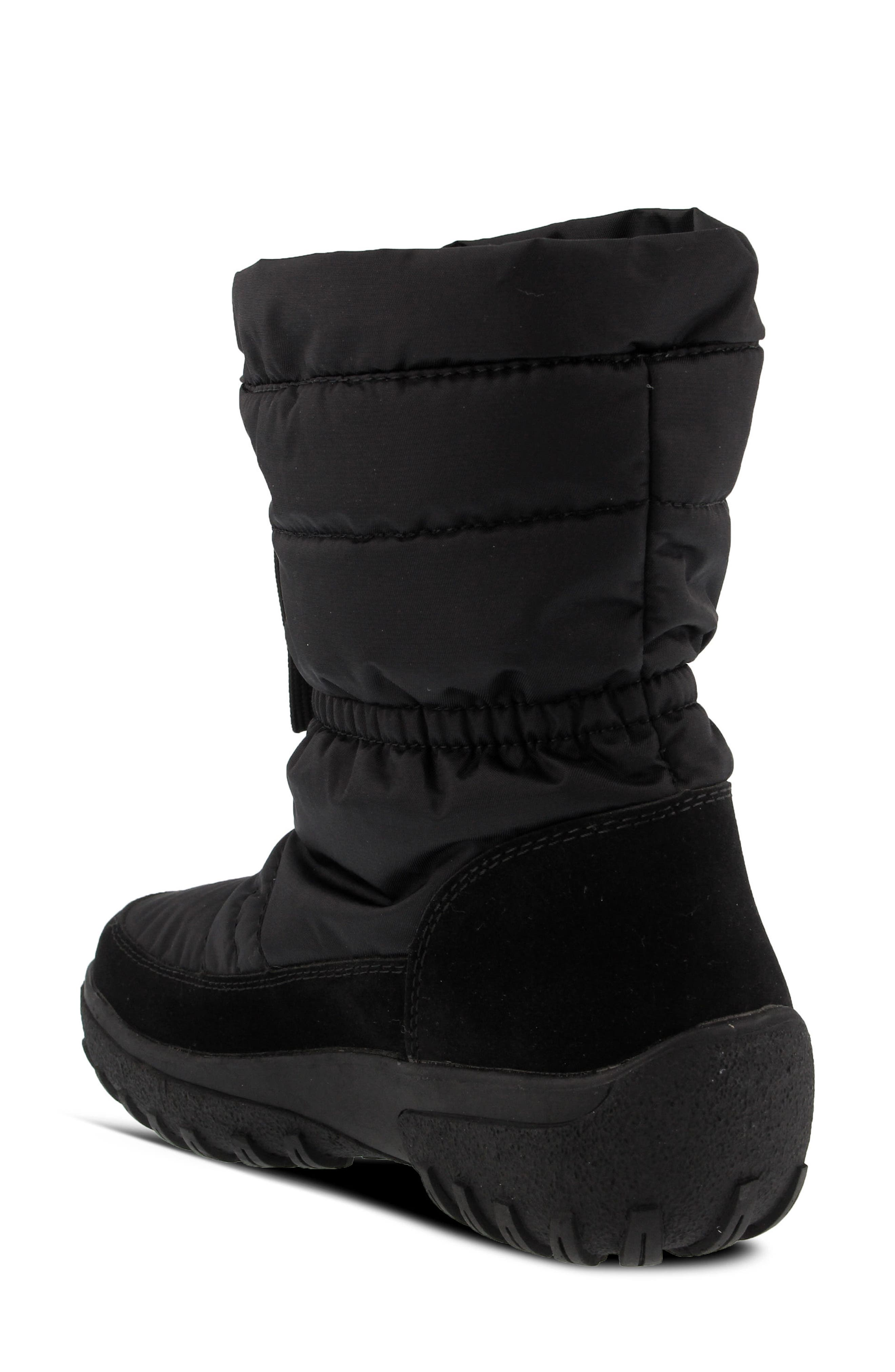 Lucerne Waterproof Drawstring Boot,                             Alternate thumbnail 2, color,                             Black