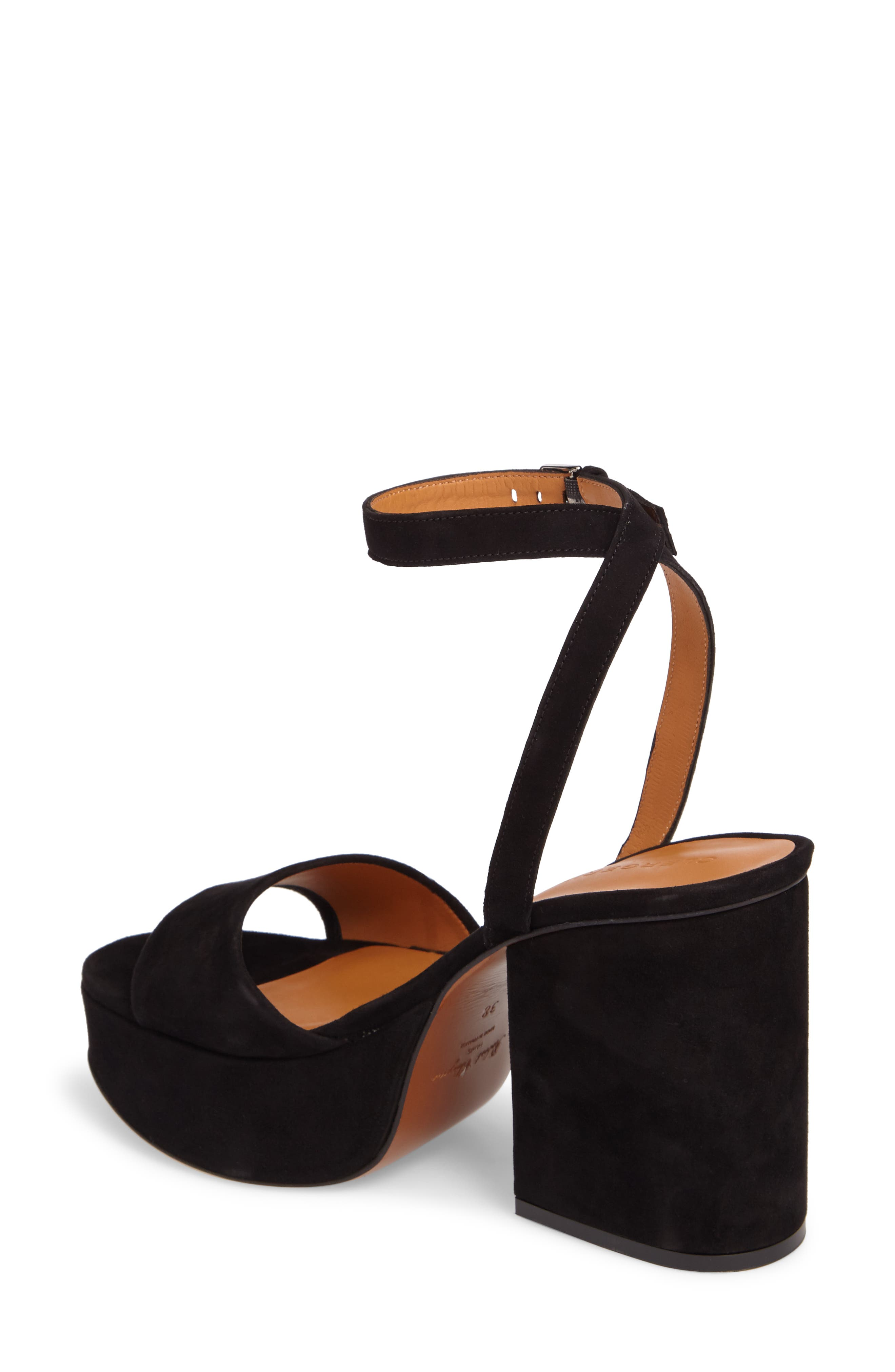 Vionica Platform Ankle Strap Sandal,                             Alternate thumbnail 2, color,                             Black