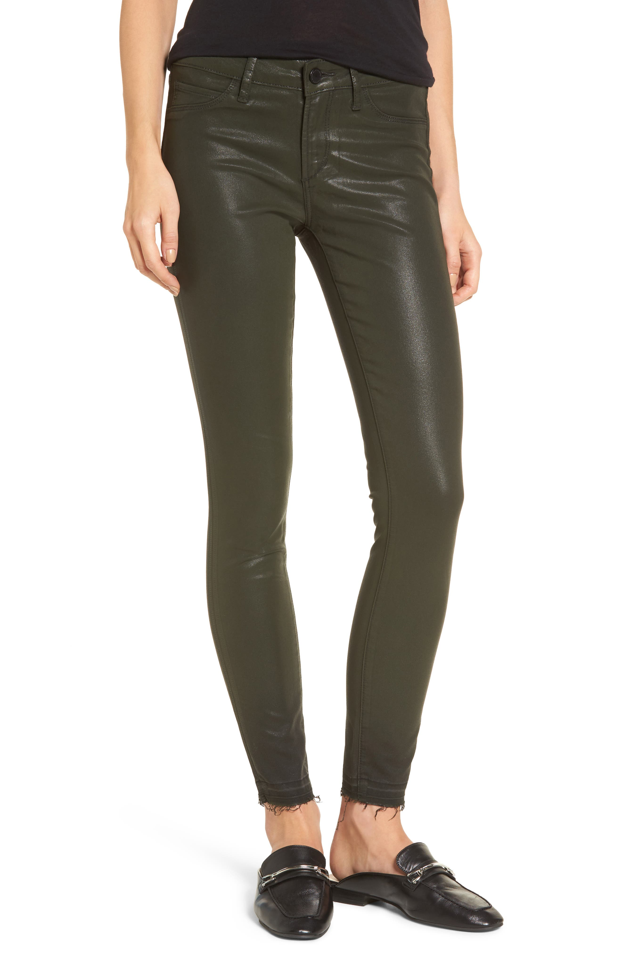 Sarah Coated Skinny Jeans,                         Main,                         color, Taggart