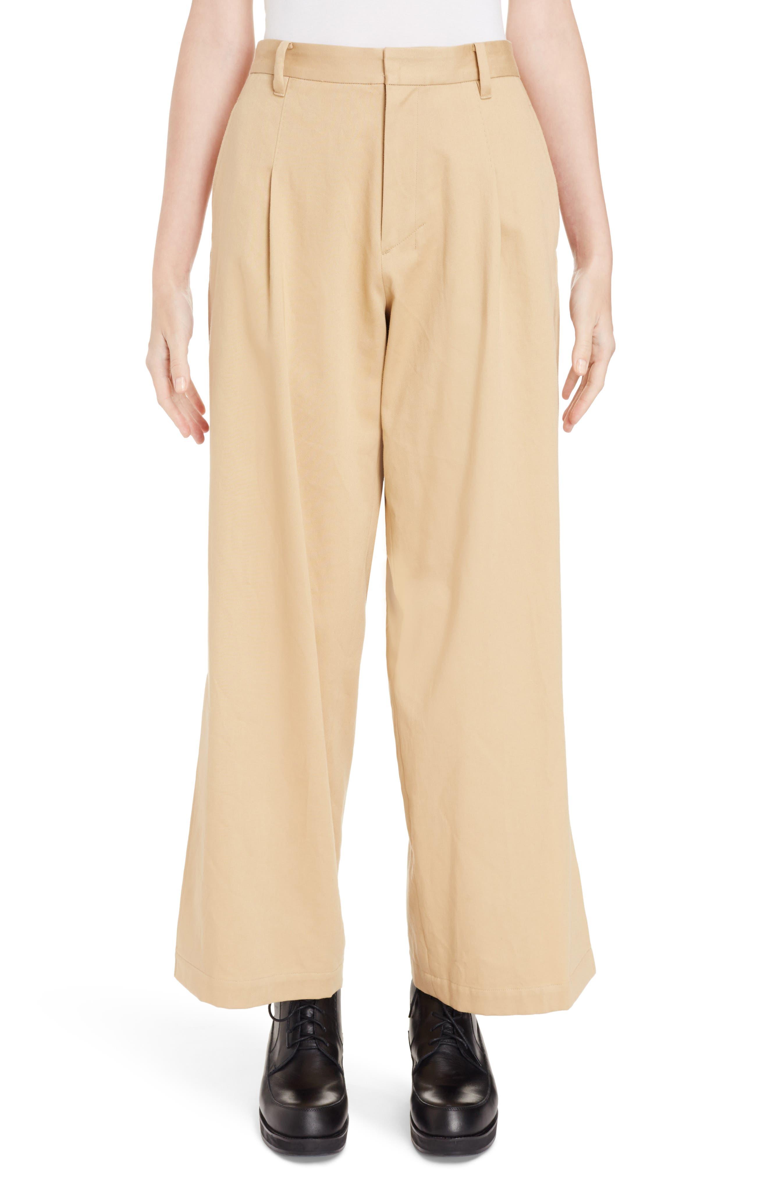 Y's by Yohji Yamamoto Pleated Split Hem Pants