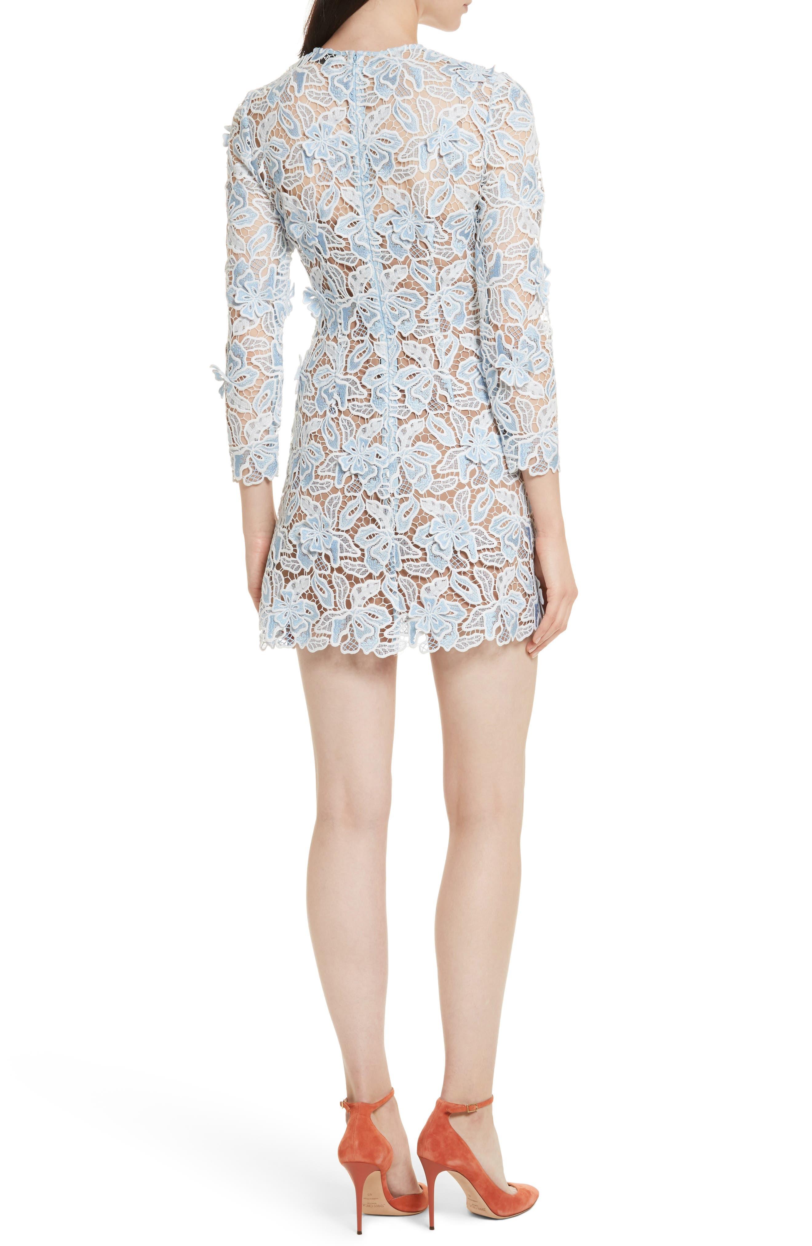 Alternate Image 2  - Self-Portrait Lily 3D Lace Minidress