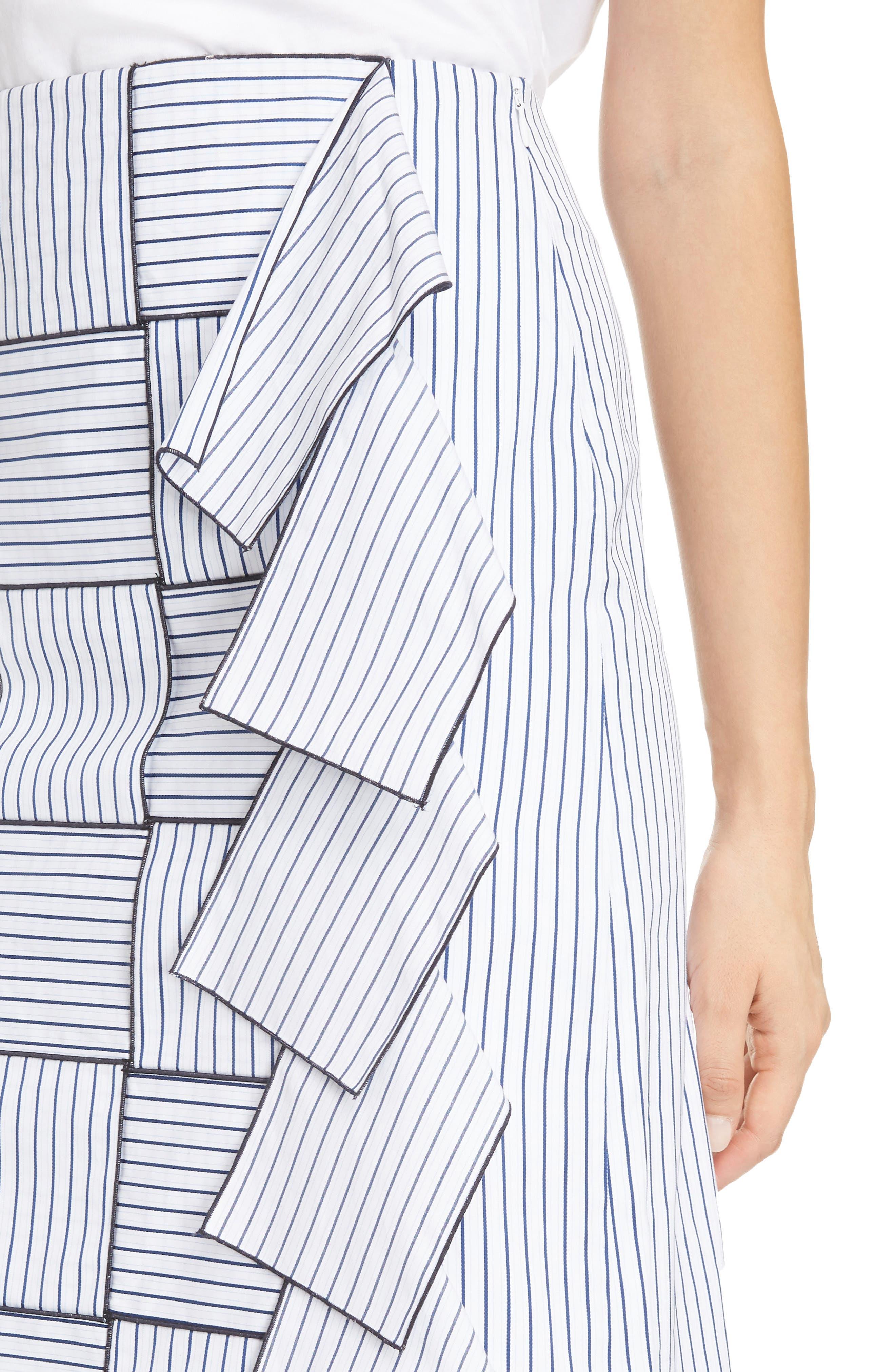 Alternate Image 4  - Victoria, Victoria Beckham Basket-Weave Pencil Skirt