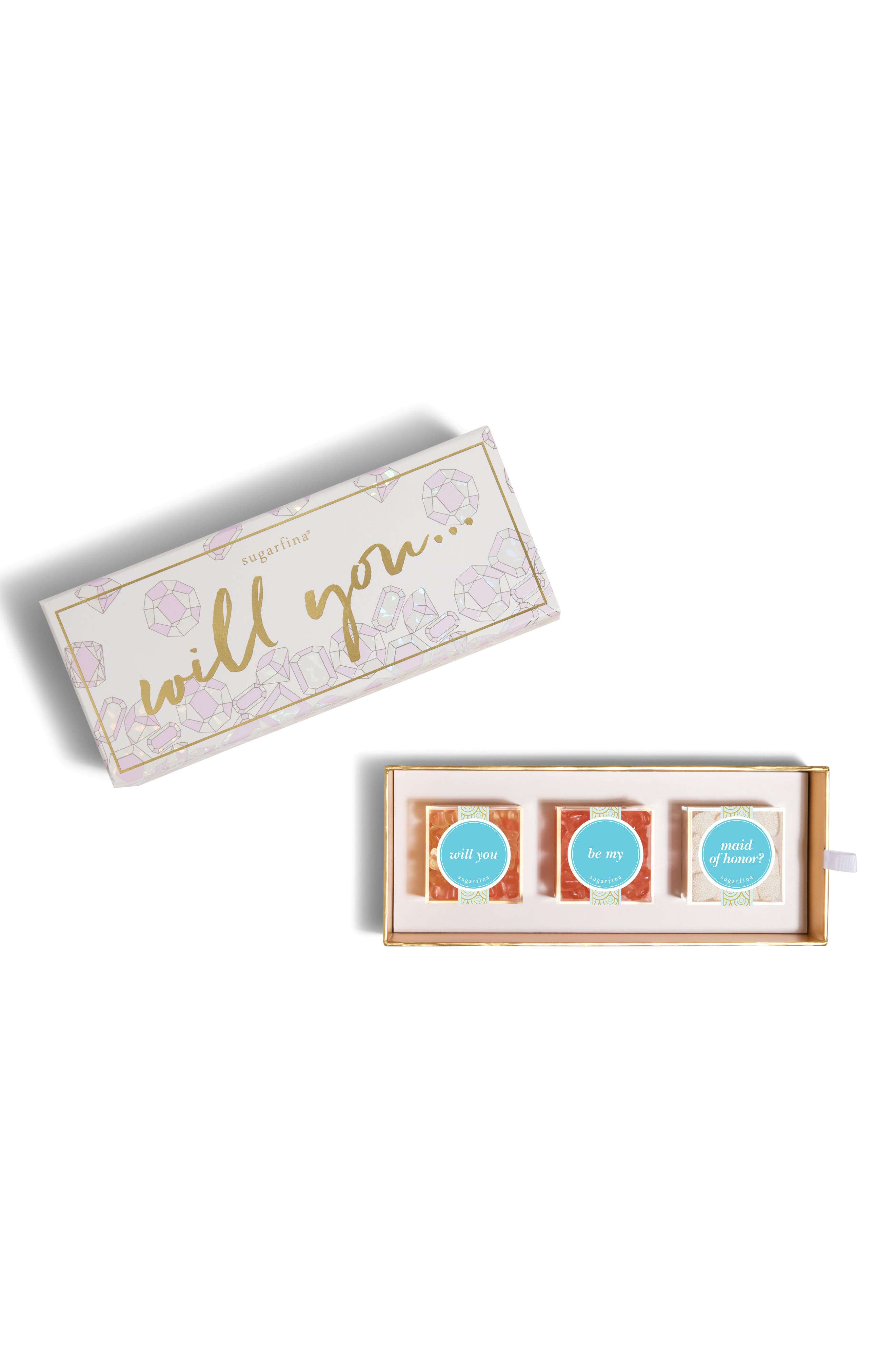 sugarfina Be My Maid of Honor 3-Piece Candy Bento Box