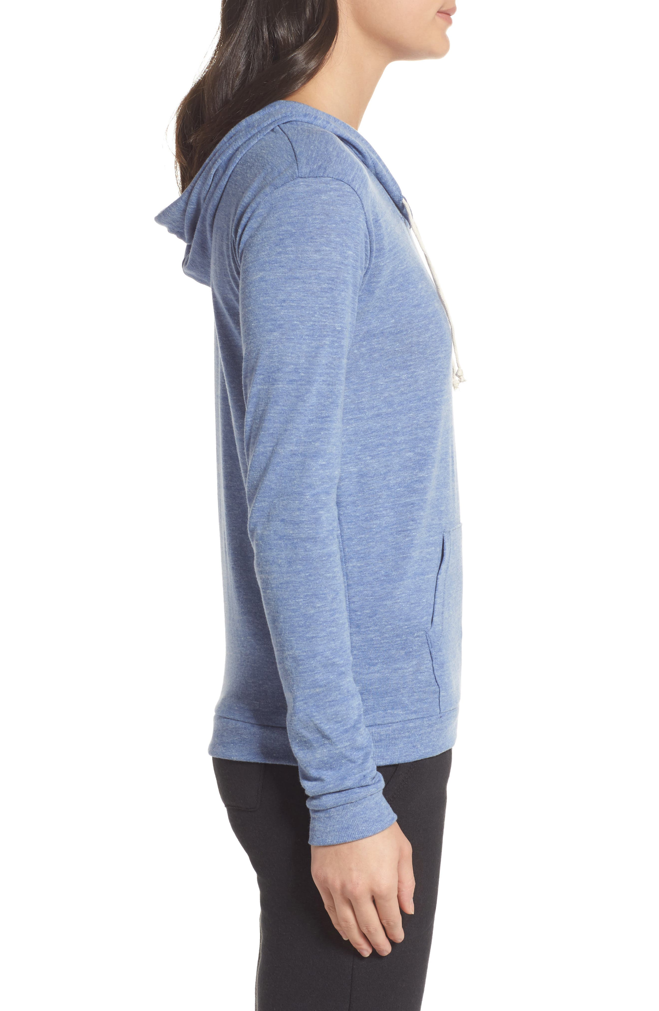 Classic Pullover Hoodie,                             Alternate thumbnail 3, color,                             Eco Pacific Blue