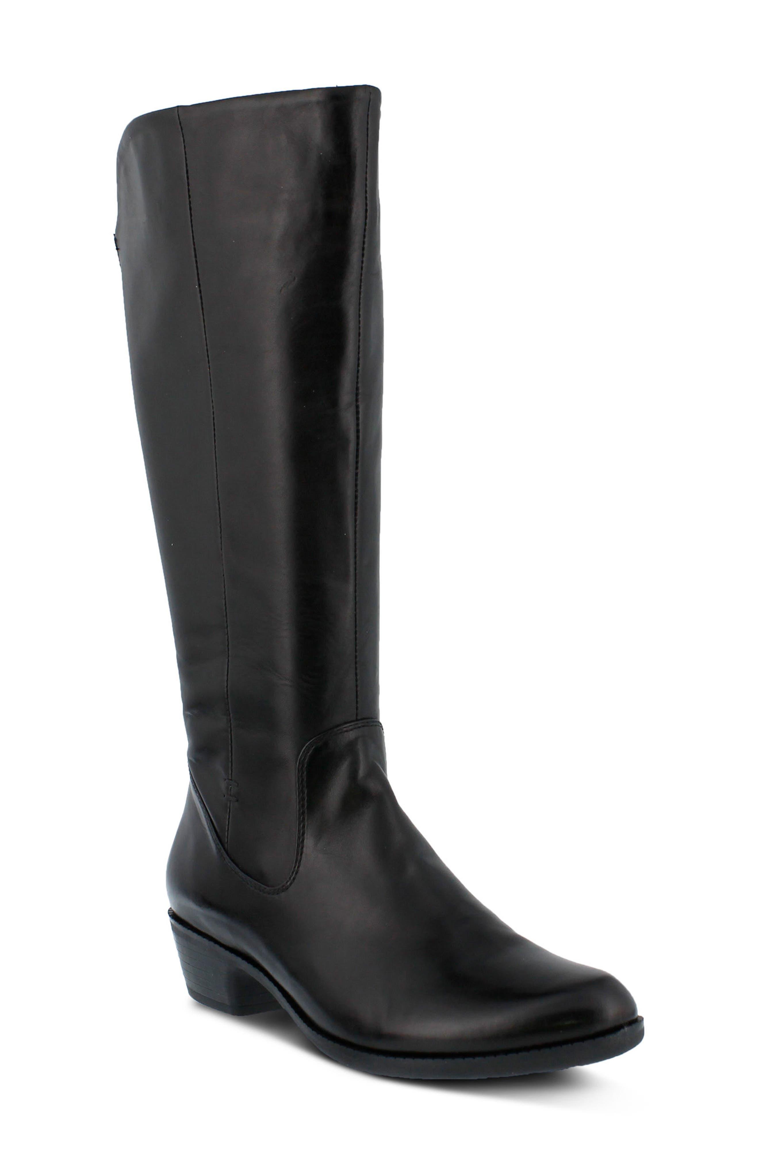 Bolah Tall Boot,                             Main thumbnail 1, color,                             Black Leather