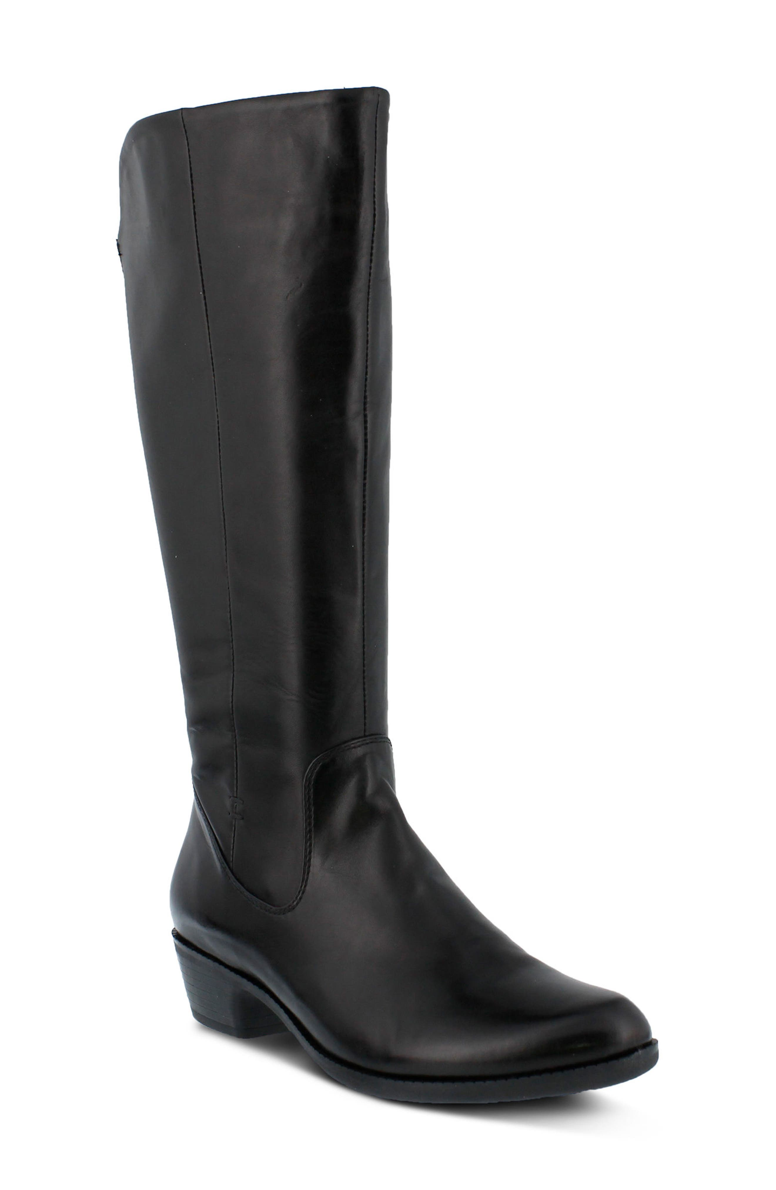 Bolah Tall Boot,                         Main,                         color, Black Leather