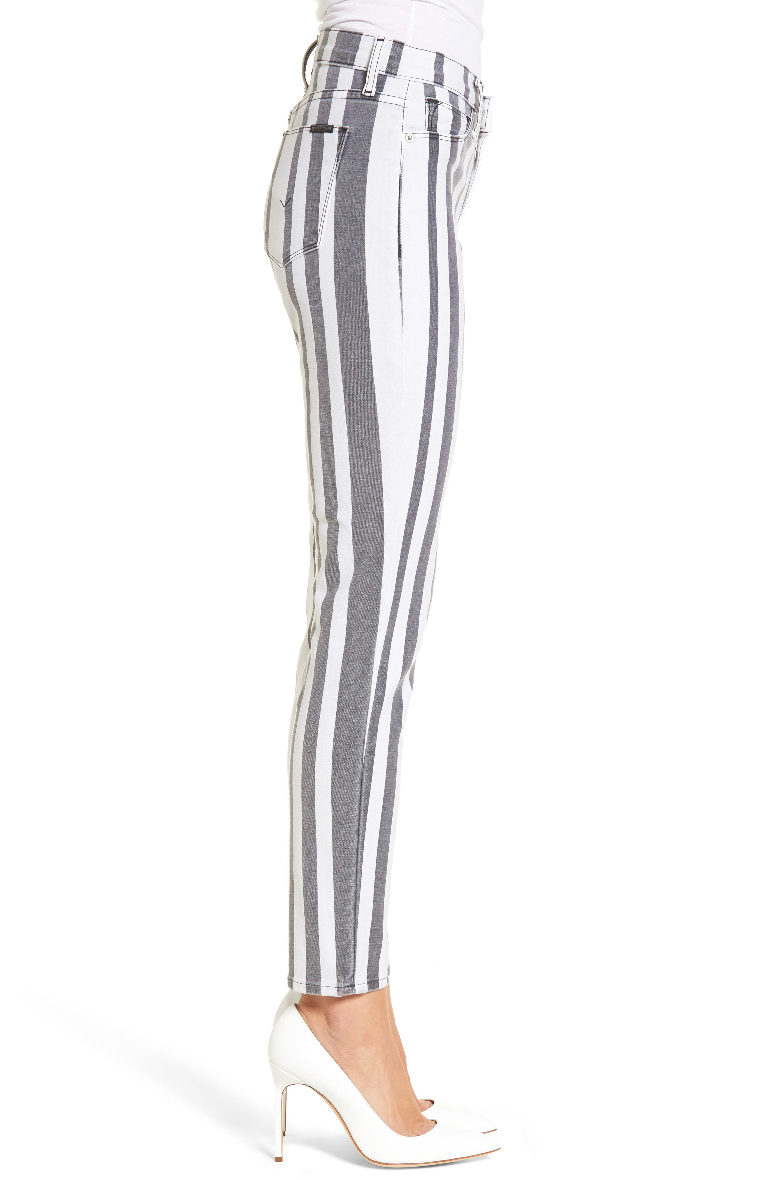 Barbara High Waist Ankle Super Skinny Jeans,                             Alternate thumbnail 3, color,                             Undertaking