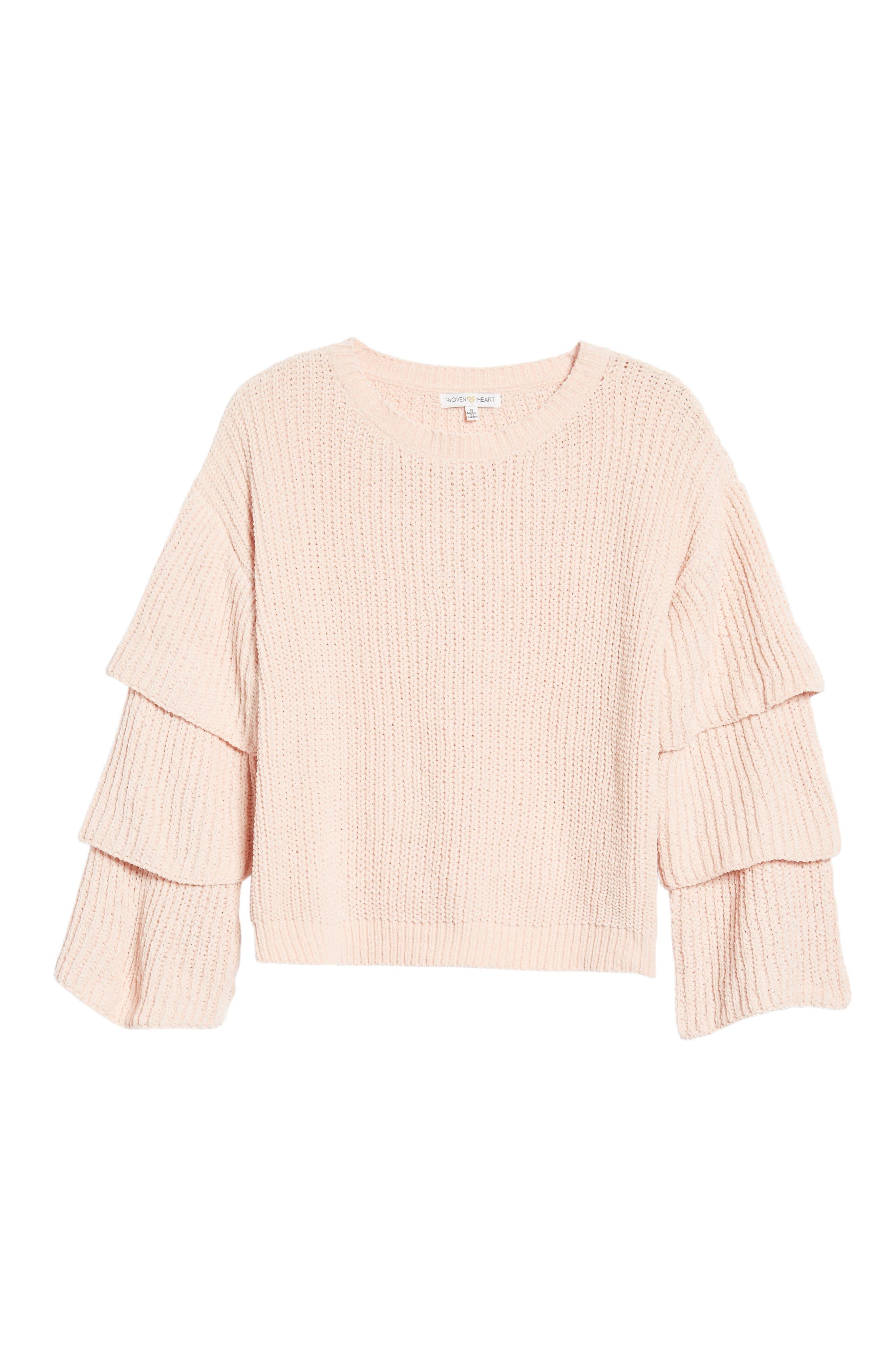 Alternate Image 6  - Woven Heart Triple Ruffle Sweater