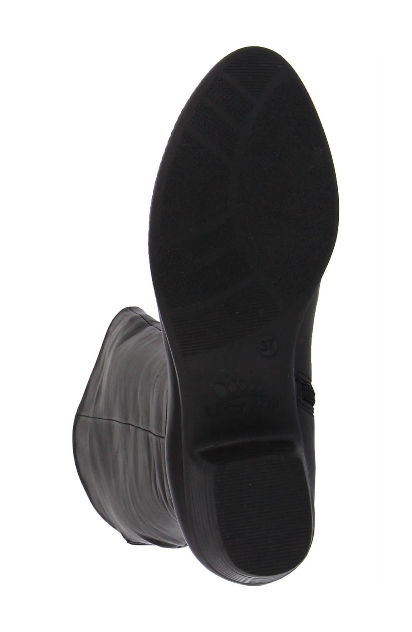 Bolah Tall Boot,                             Alternate thumbnail 5, color,                             Black Leather