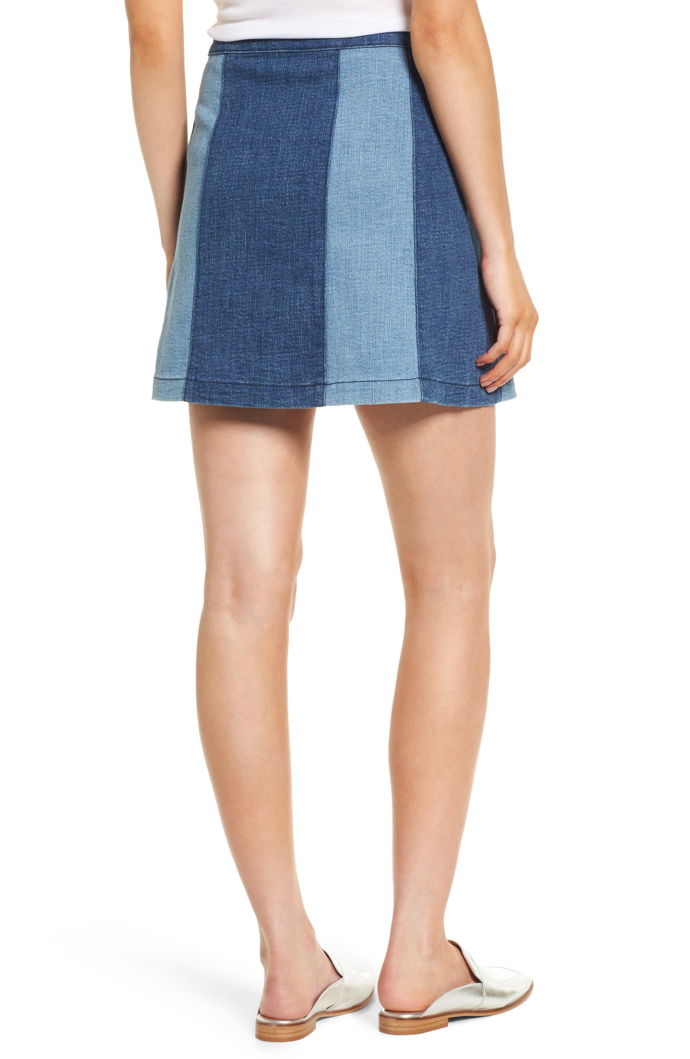 Beatty Denim Miniskirt,                             Alternate thumbnail 2, color,                             Indigo