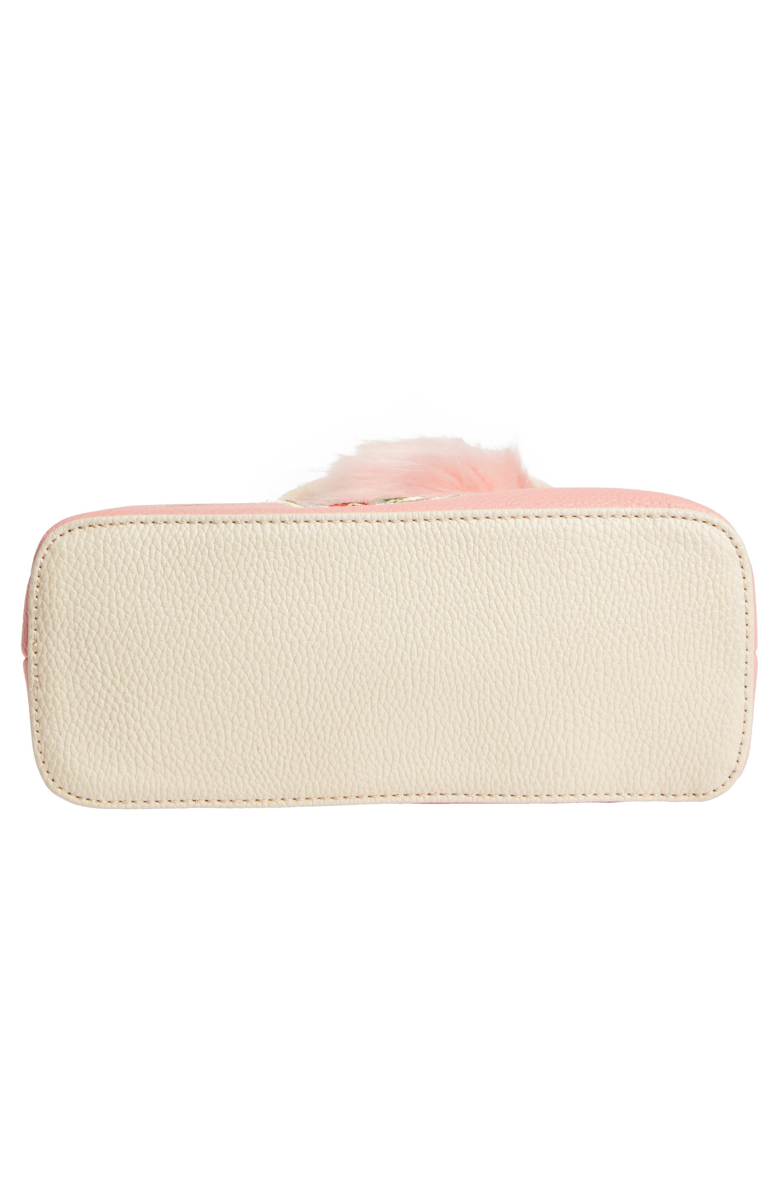 Embroidered Handbag,                             Alternate thumbnail 5, color,                             Pink