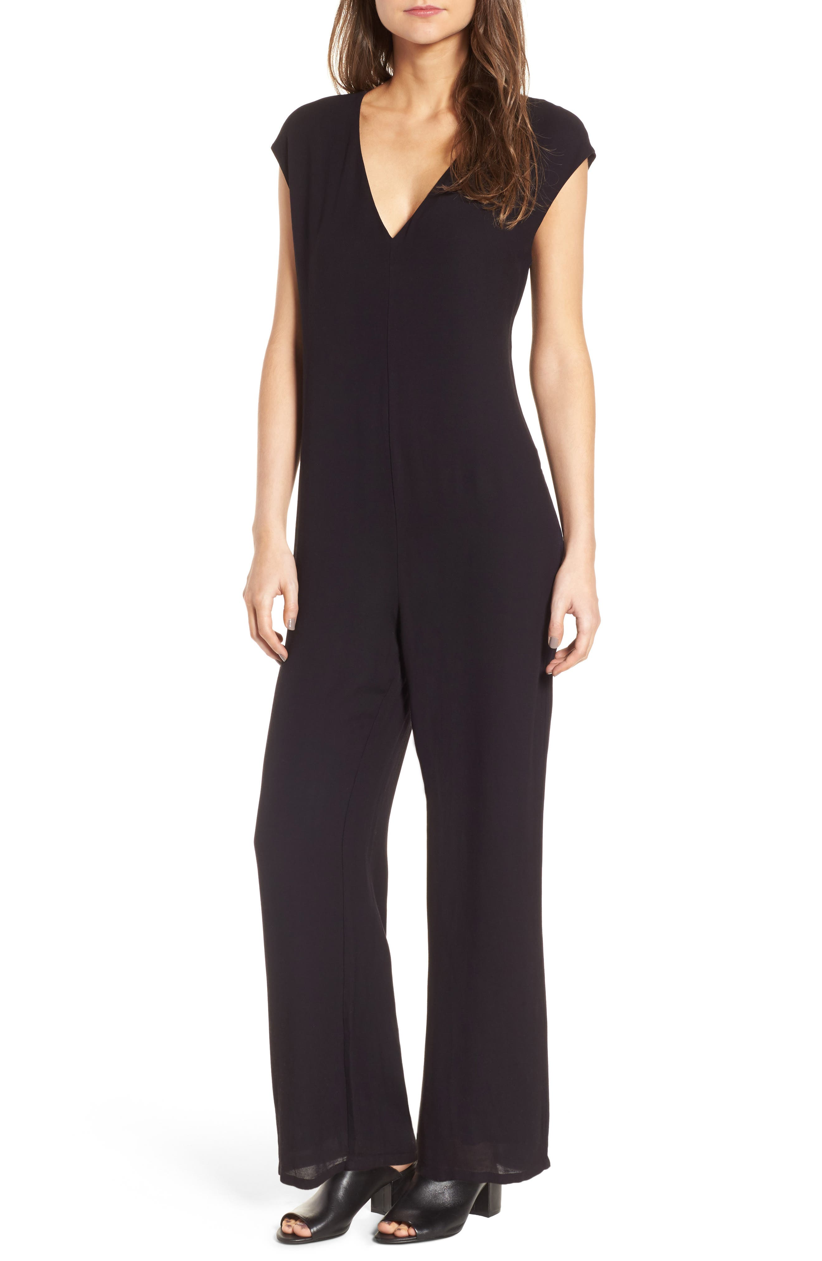 Alternate Image 1 Selected - James Perse Crepe Jumpsuit