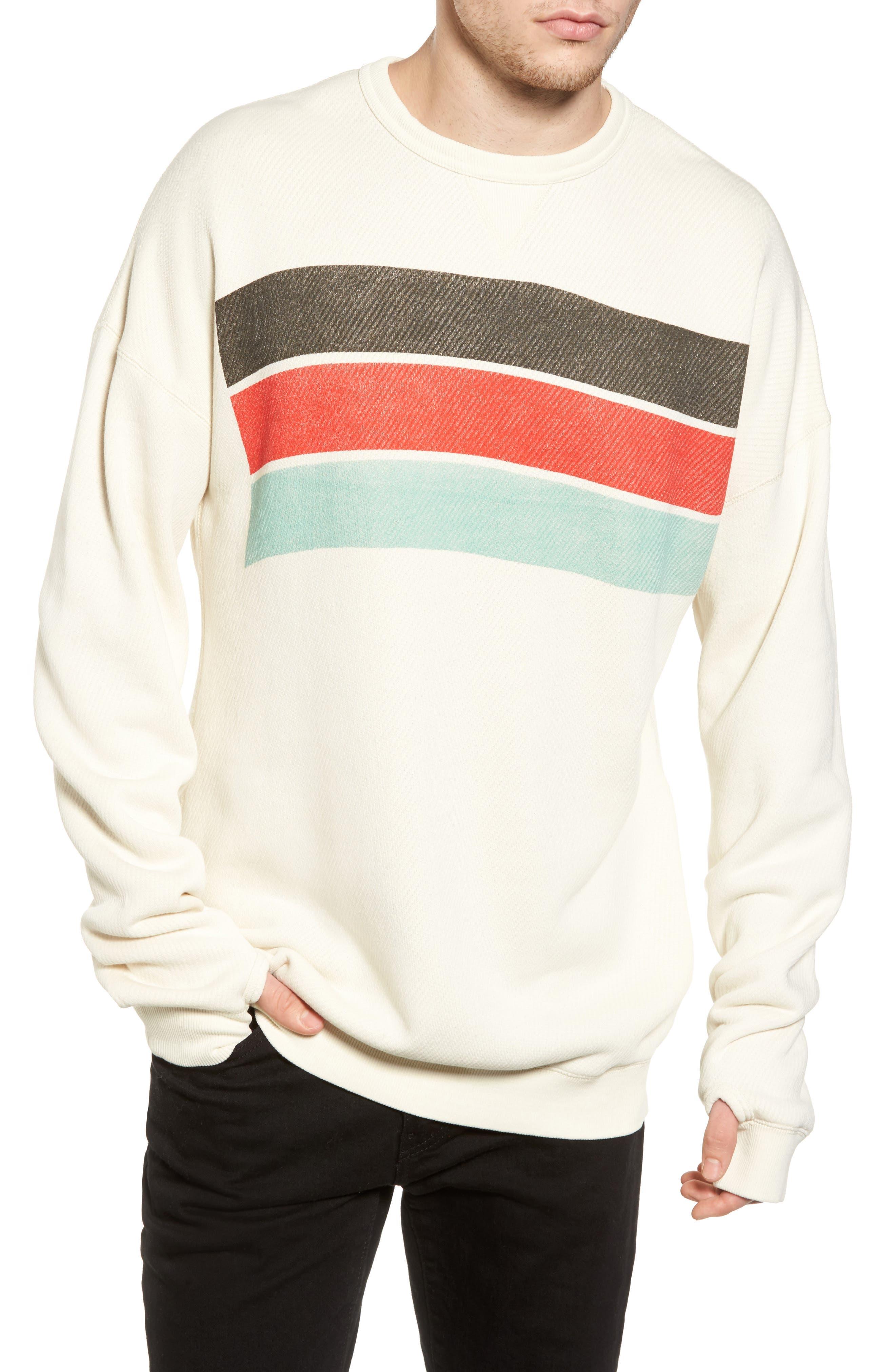 Graphic Sweatshirt,                         Main,                         color, Ecru