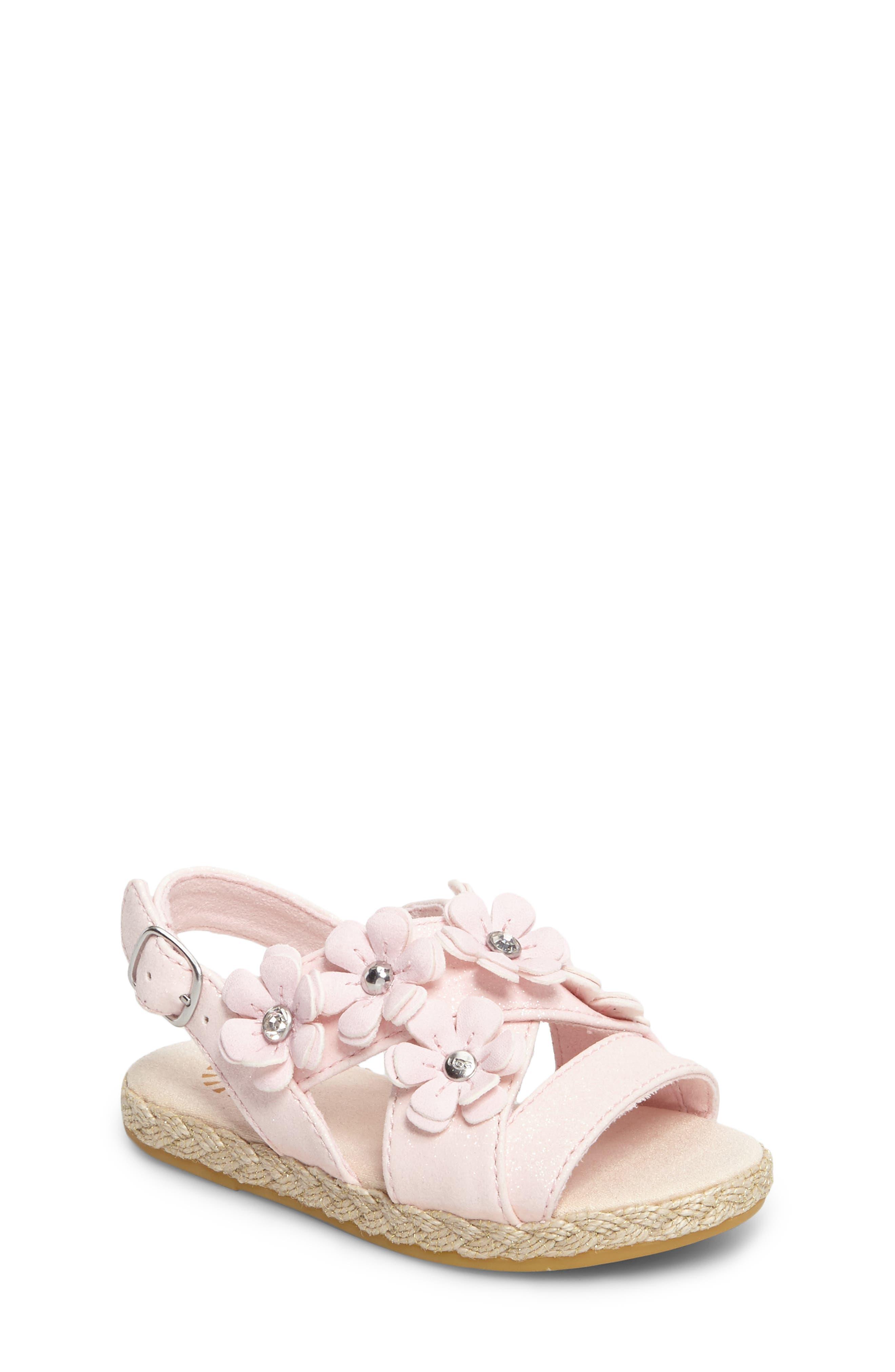 UGG® Allairey Sparkles Espadrille Sandal (Baby & Walker)