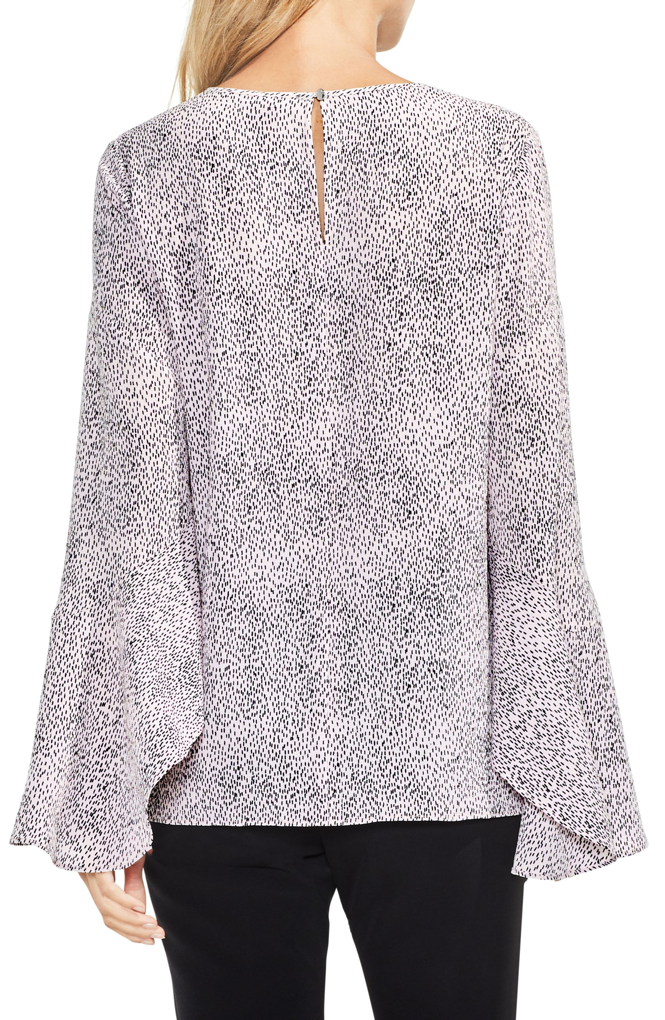 Alternate Image 2  - Vince Camuto Bell Sleeve Dashes Top