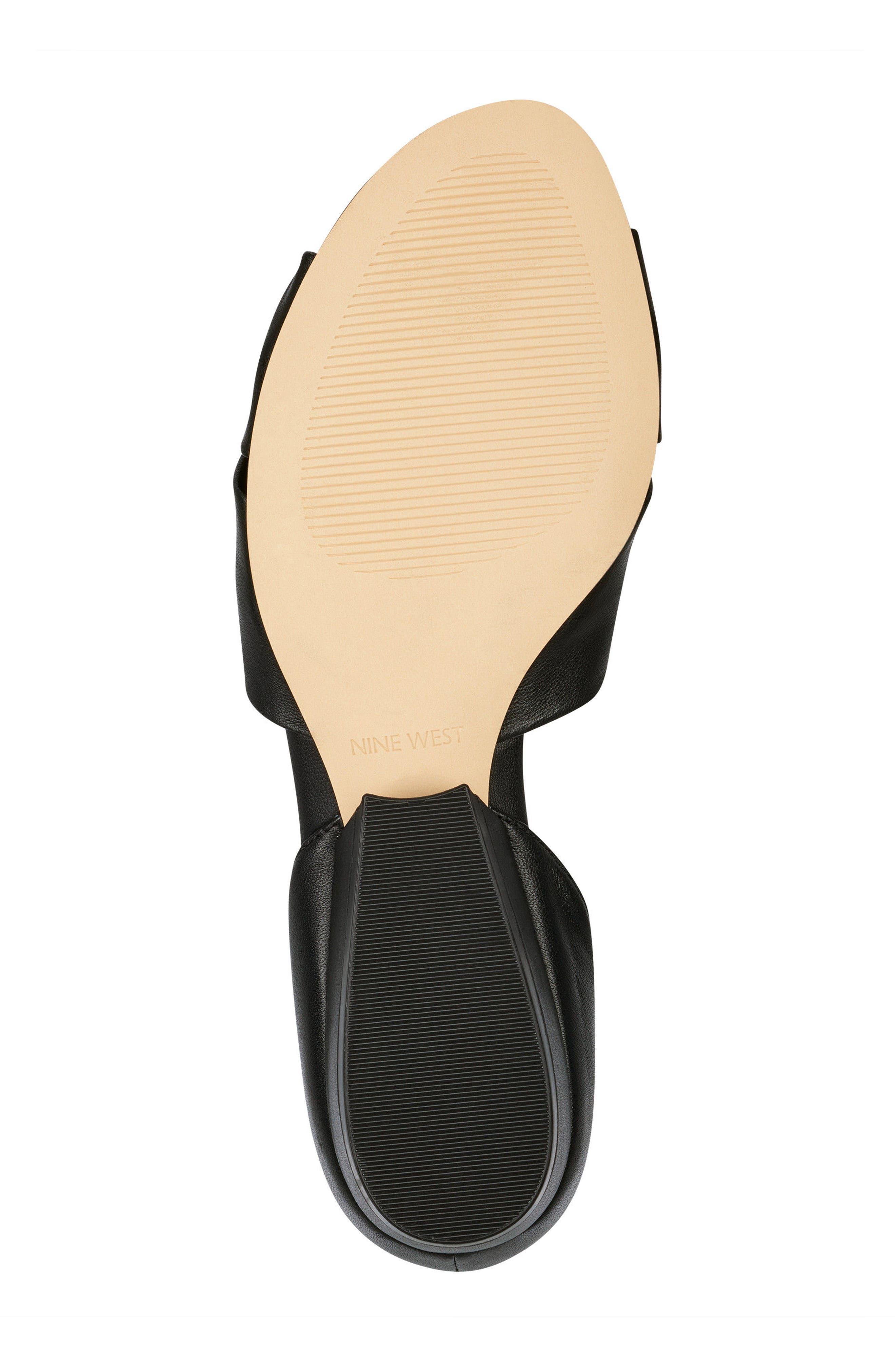 Lumsi Ankle Strap Sandal,                             Alternate thumbnail 6, color,                             Black Leather