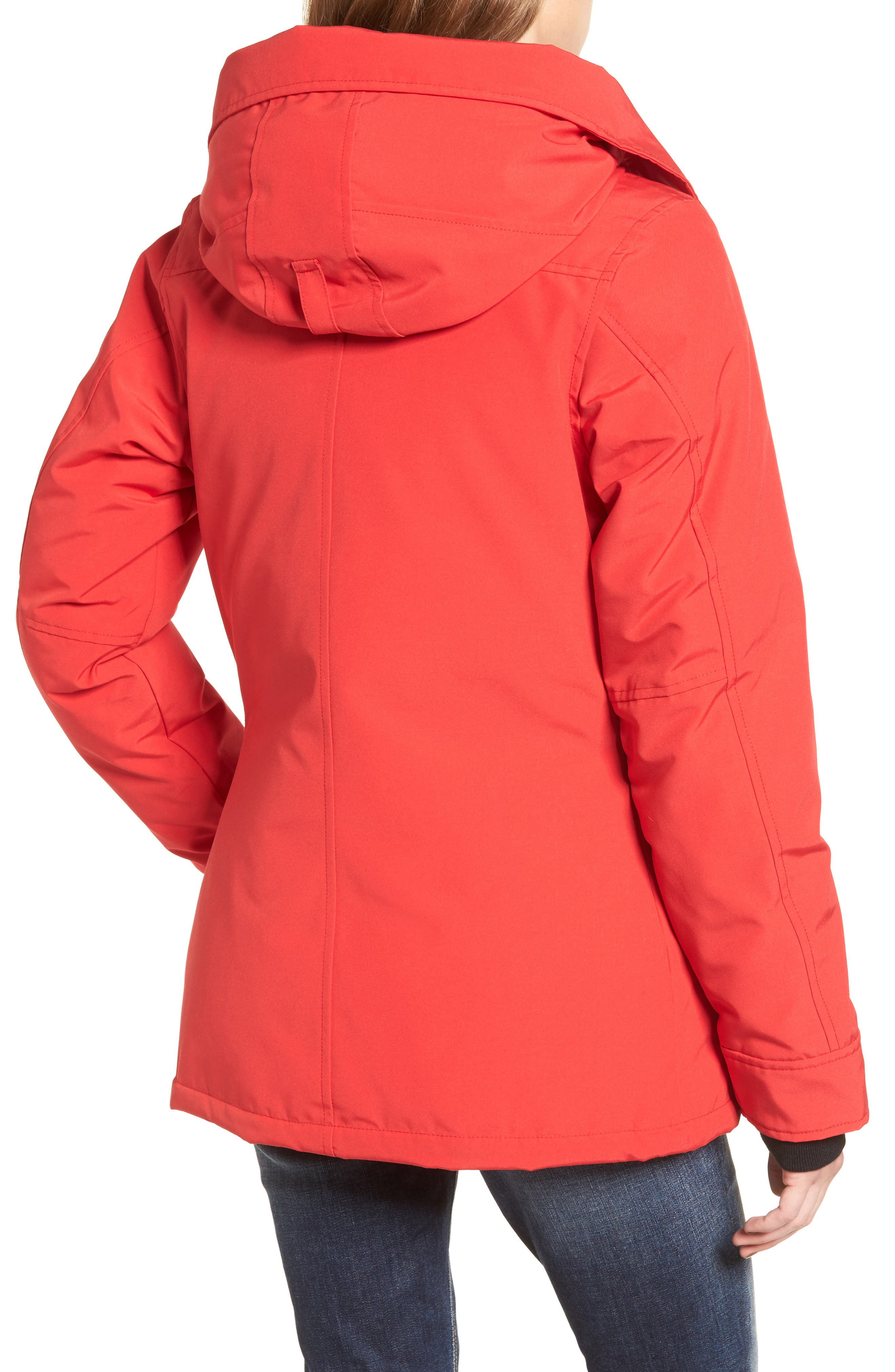 'Rideau' Slim Fit Down Parka,                             Alternate thumbnail 2, color,                             Red
