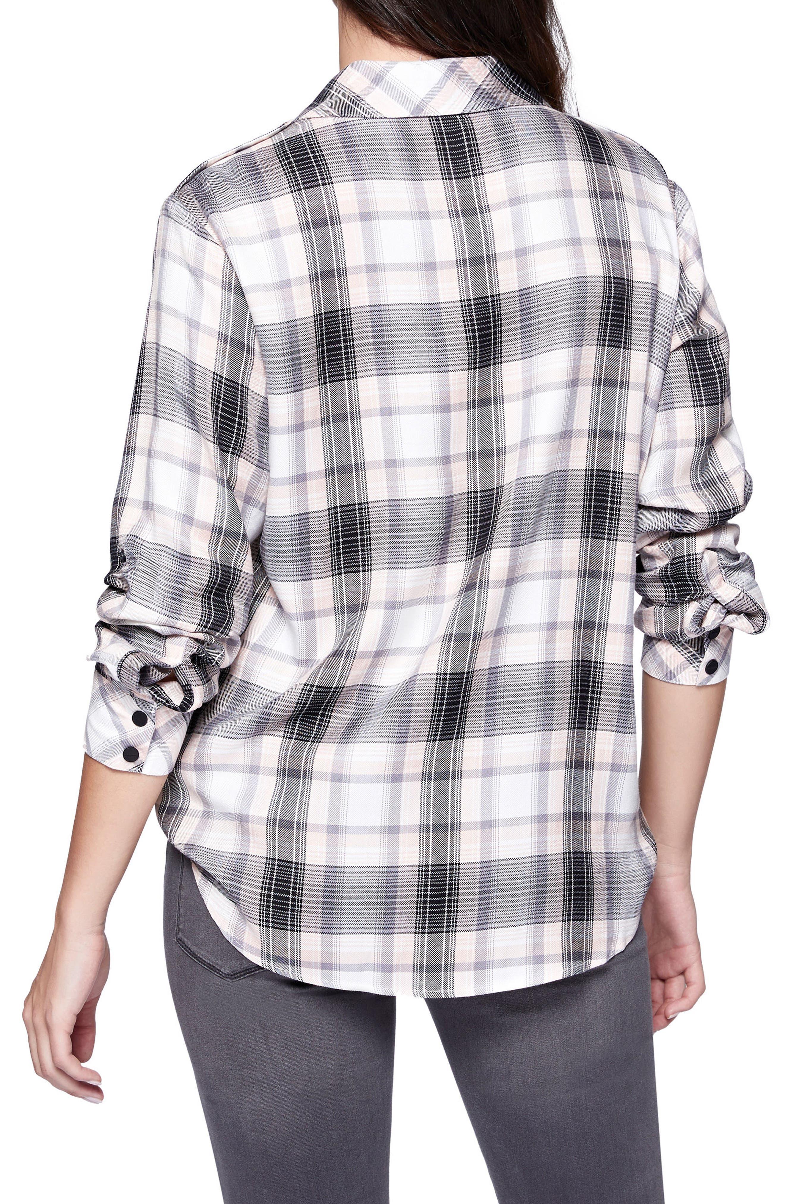 Alternate Image 2  - Sanctuary Plaid Boyfriend Shirt
