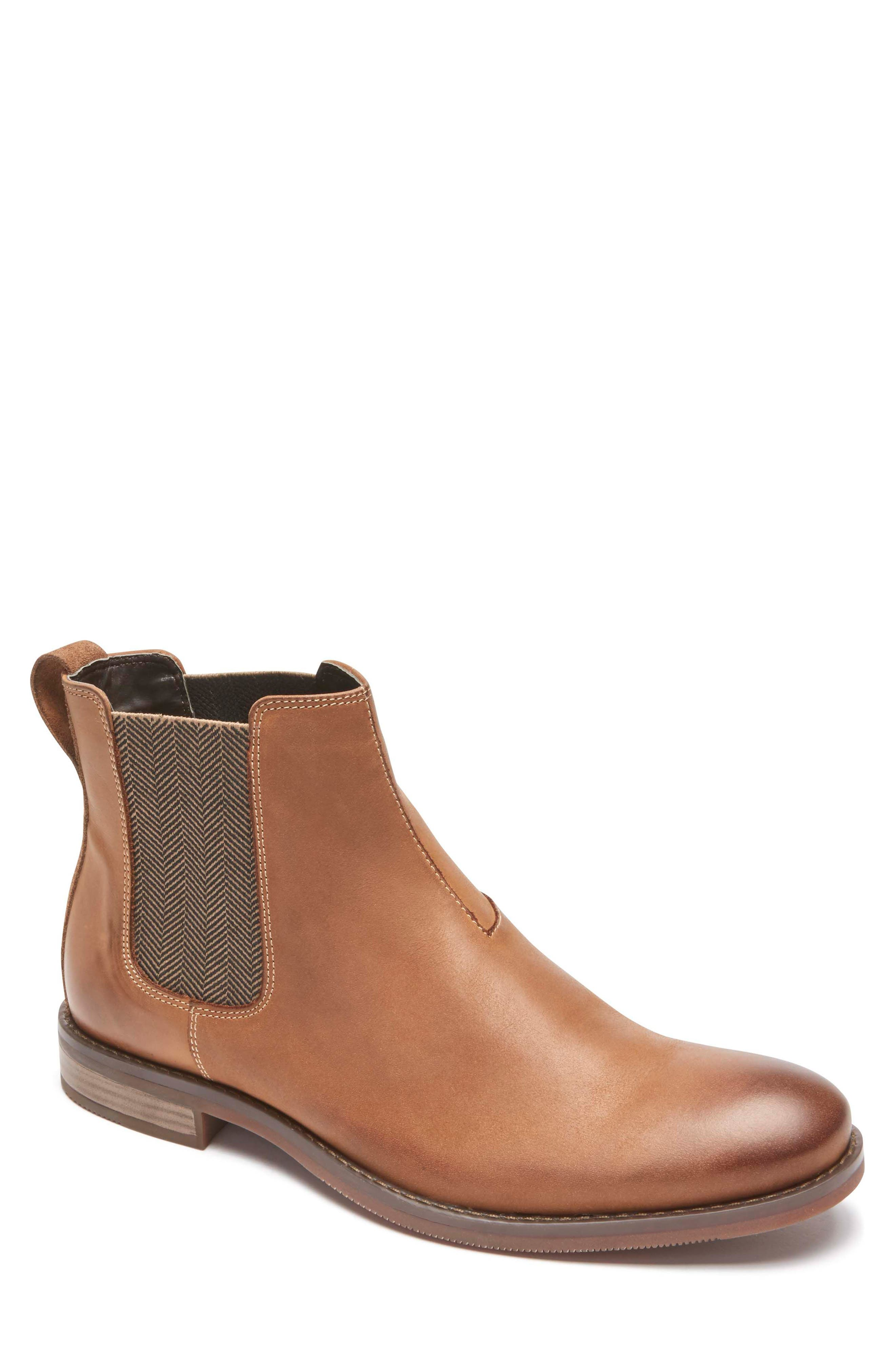 Wynstin Chelsea Boot,                         Main,                         color, Tobacco Leather