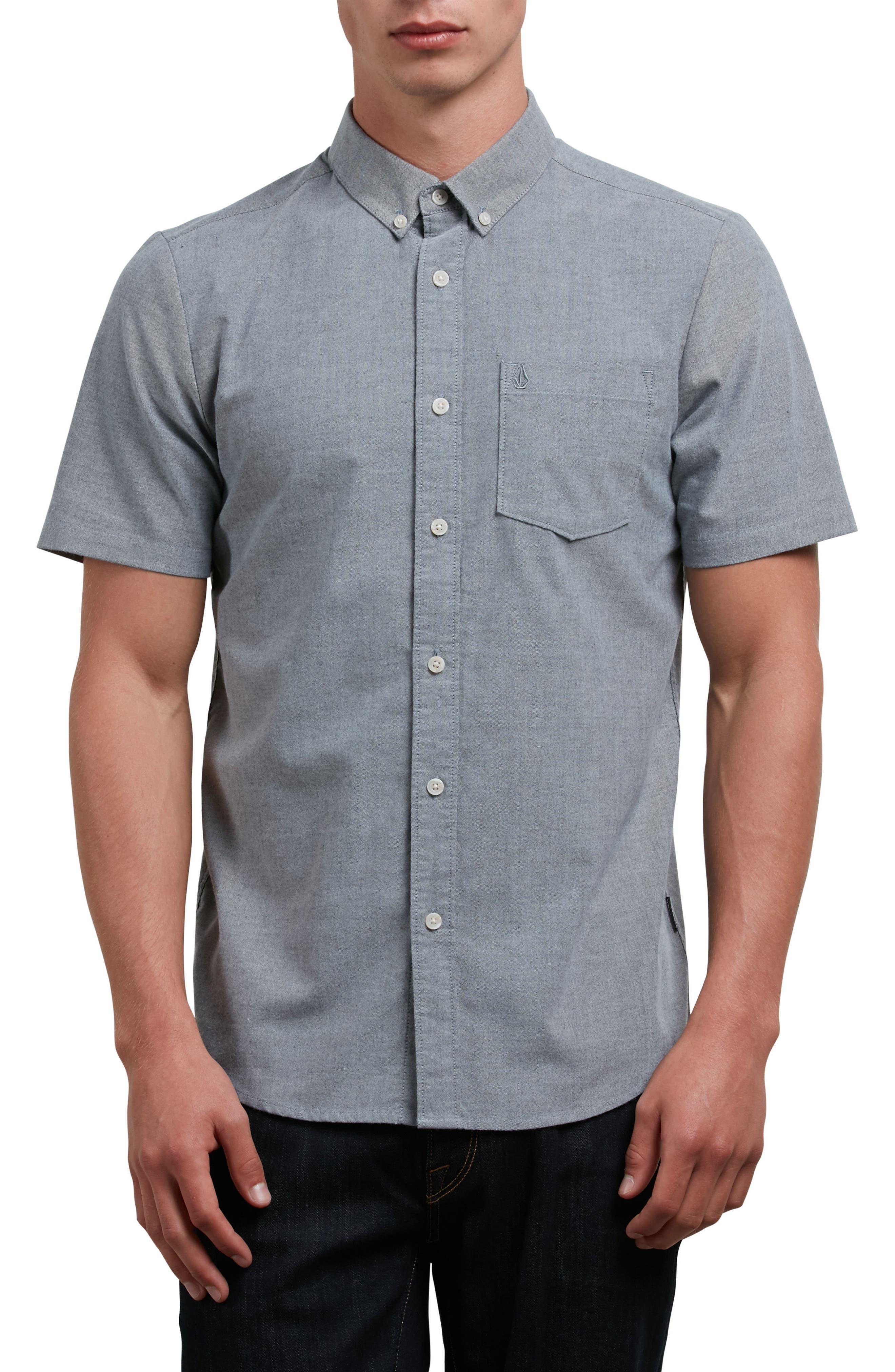 Everett Oxford Shirt,                         Main,                         color, Black