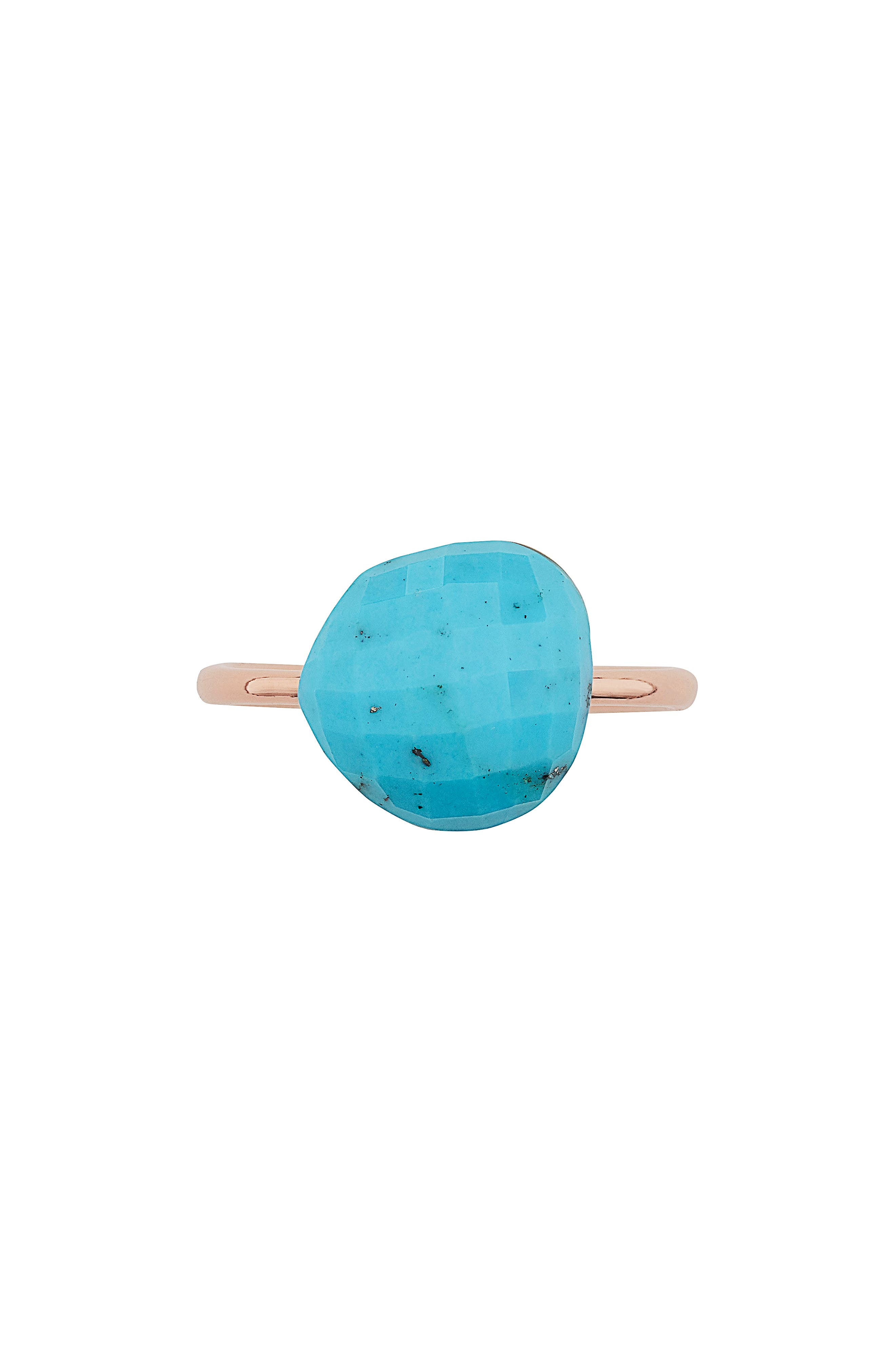 Nura Pebble Stacking iIng,                             Alternate thumbnail 4, color,                             Turquoise