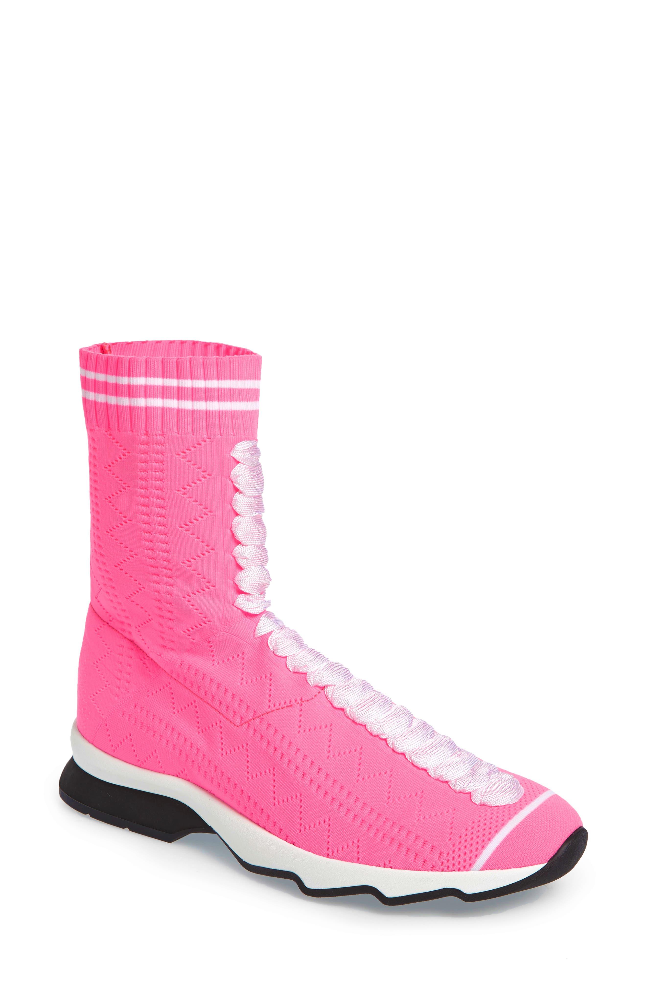 Rocko-Top Sock Sneaker,                         Main,                         color, Pink