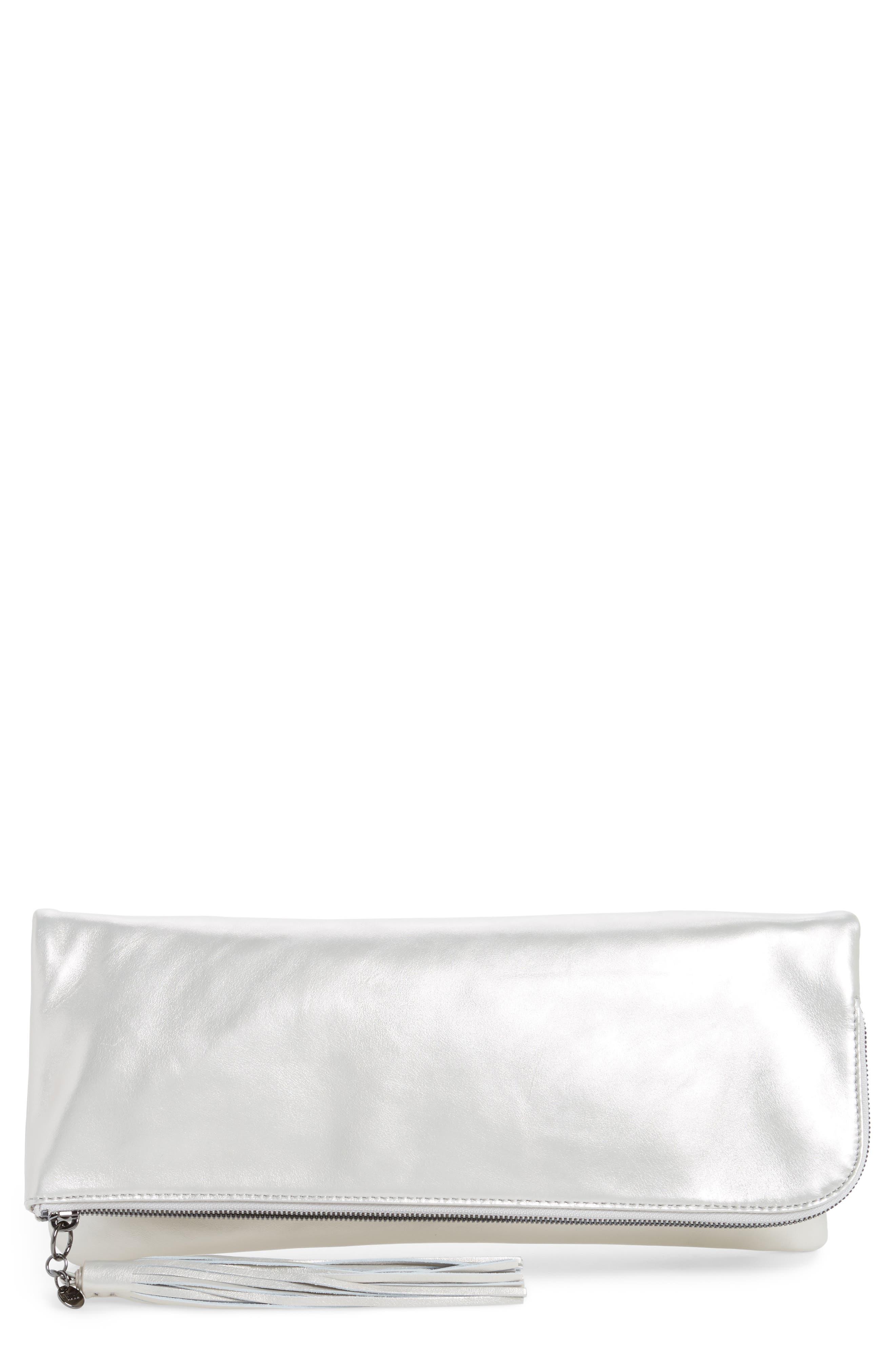 Main Image - Hobo Raine Calfskin Leather Foldover Clutch