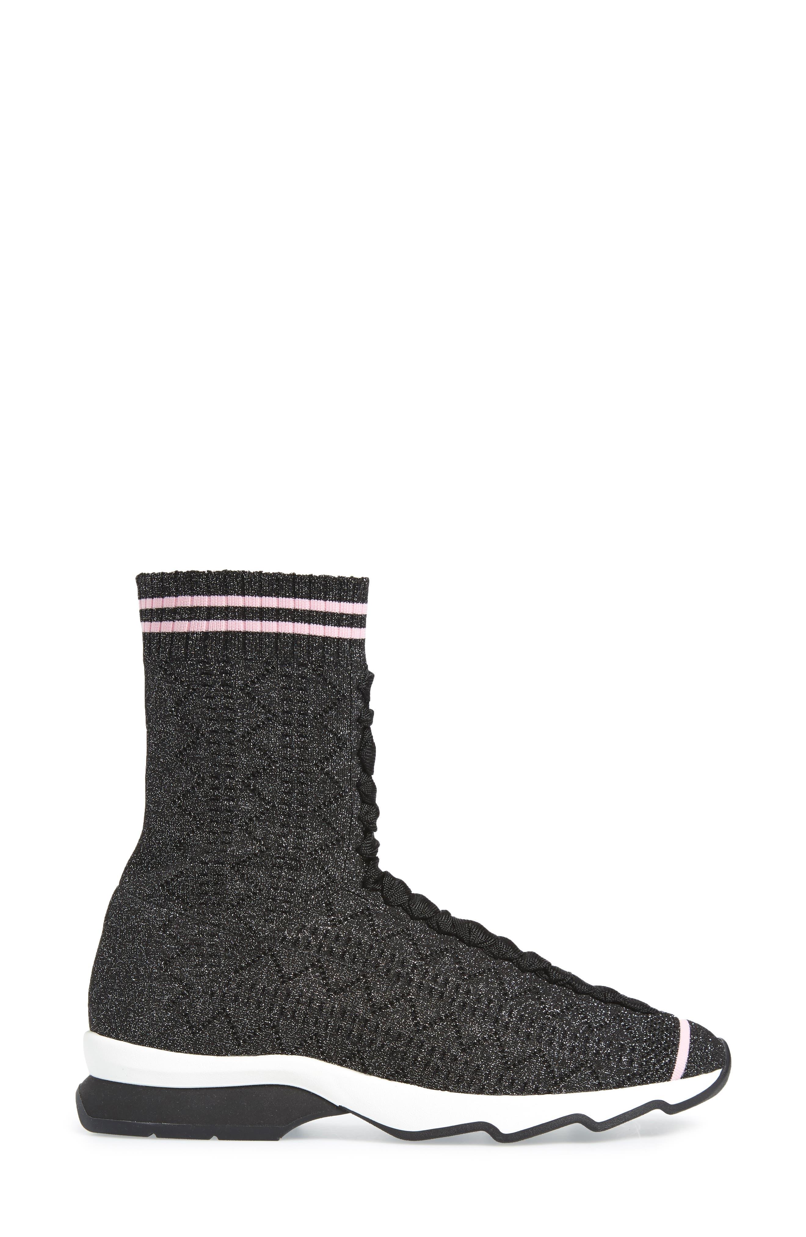Alternate Image 3  - Fendi Rockoko High Top Sock Sneaker (Women)